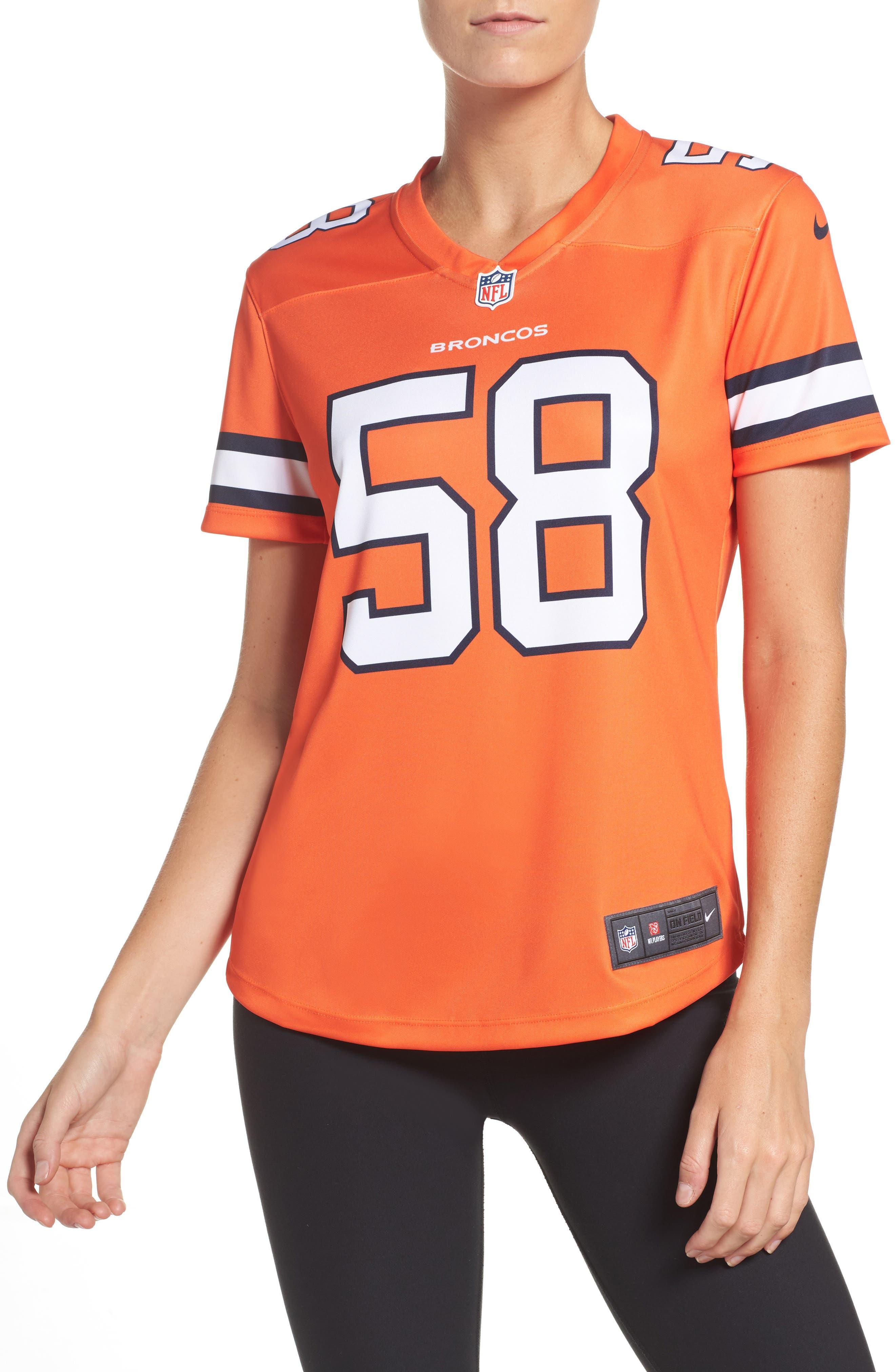 NFL Miller Denver Broncos Jersey,                             Main thumbnail 1, color,                             828