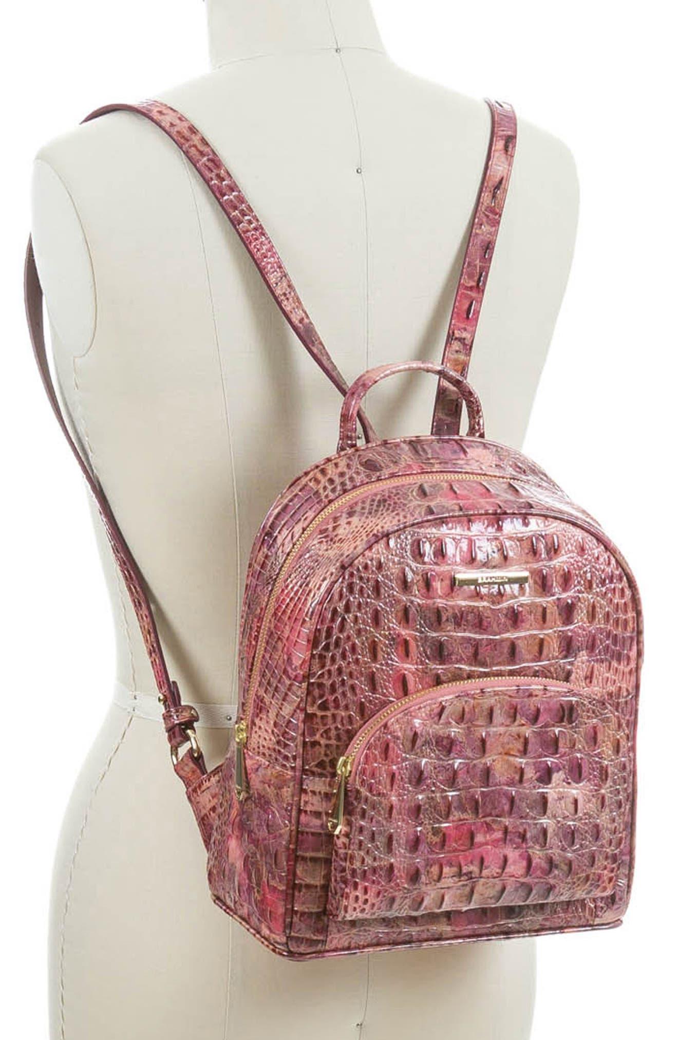 Mini Dartmouth Leather Backpack,                             Alternate thumbnail 2, color,                             WISTERIA
