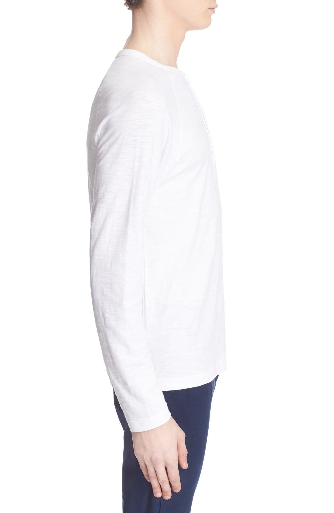 Long Sleeve Cotton Jersey Henley,                             Alternate thumbnail 5, color,                             100