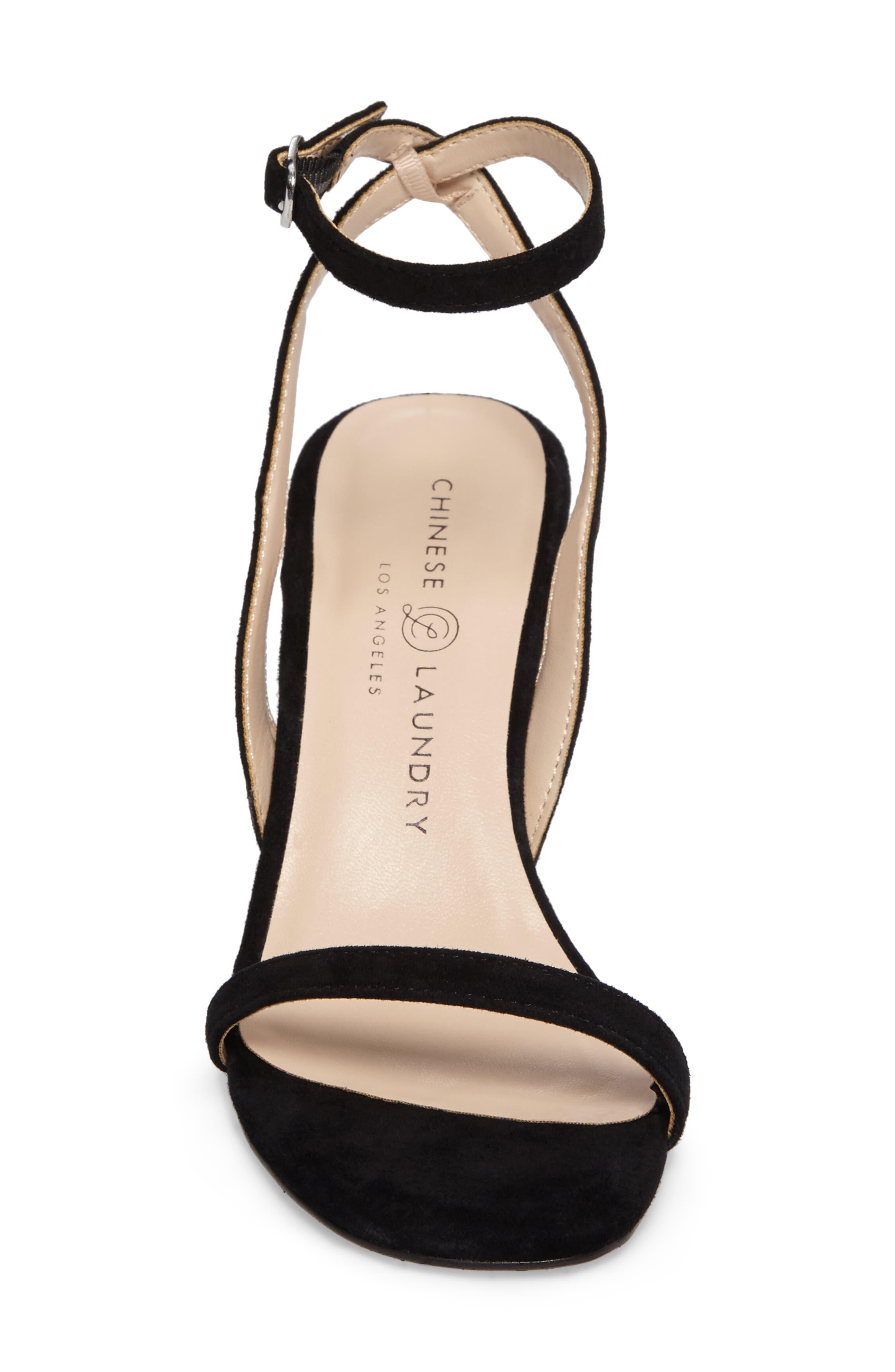 Shanie Clear Heel Sandal,                             Alternate thumbnail 4, color,                             001