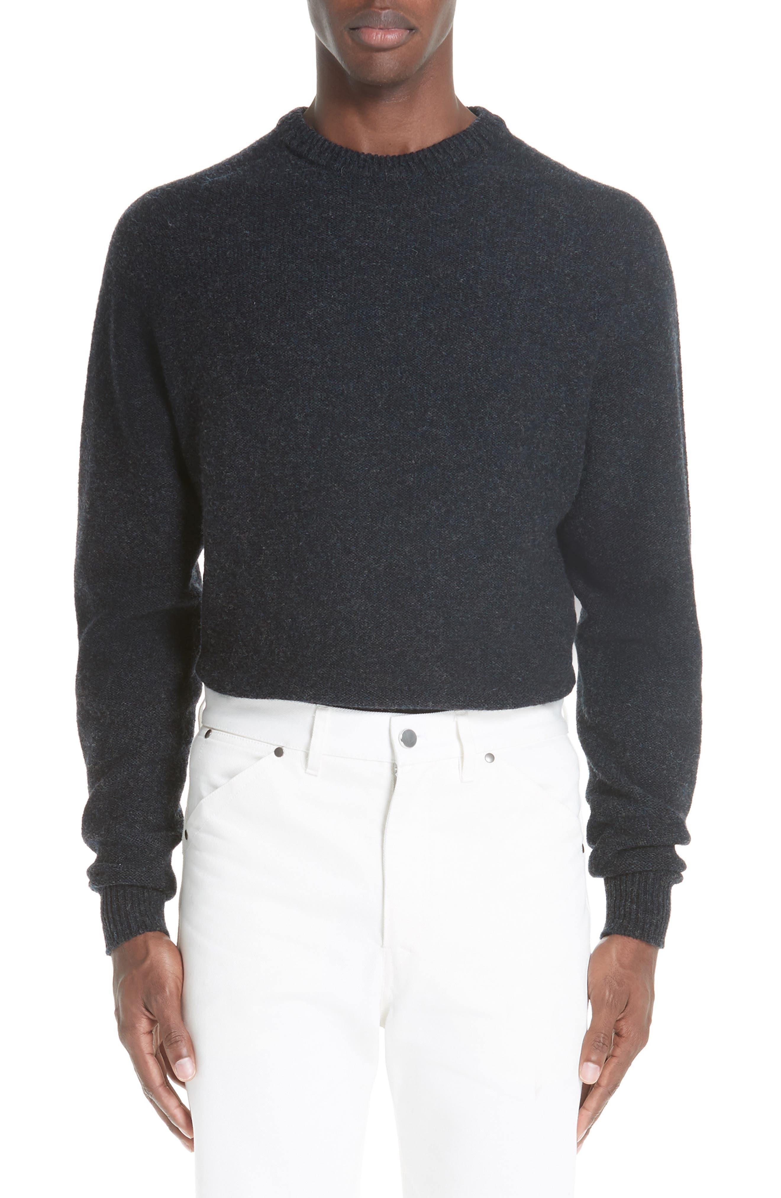 Lemaire Crew Seamless Merino Sweater, Black