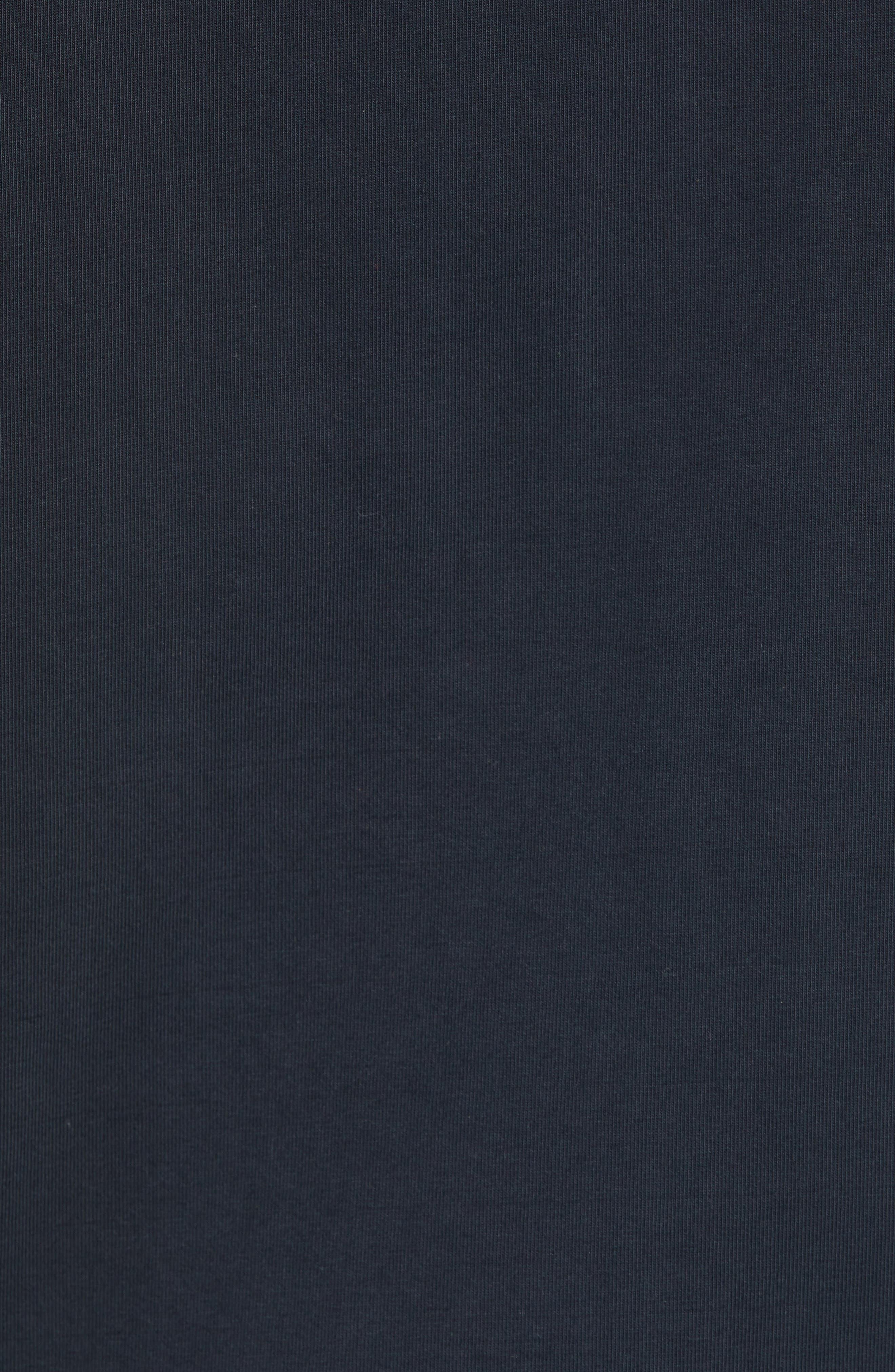 Jersey Zip Hoodie,                             Alternate thumbnail 5, color,                             001