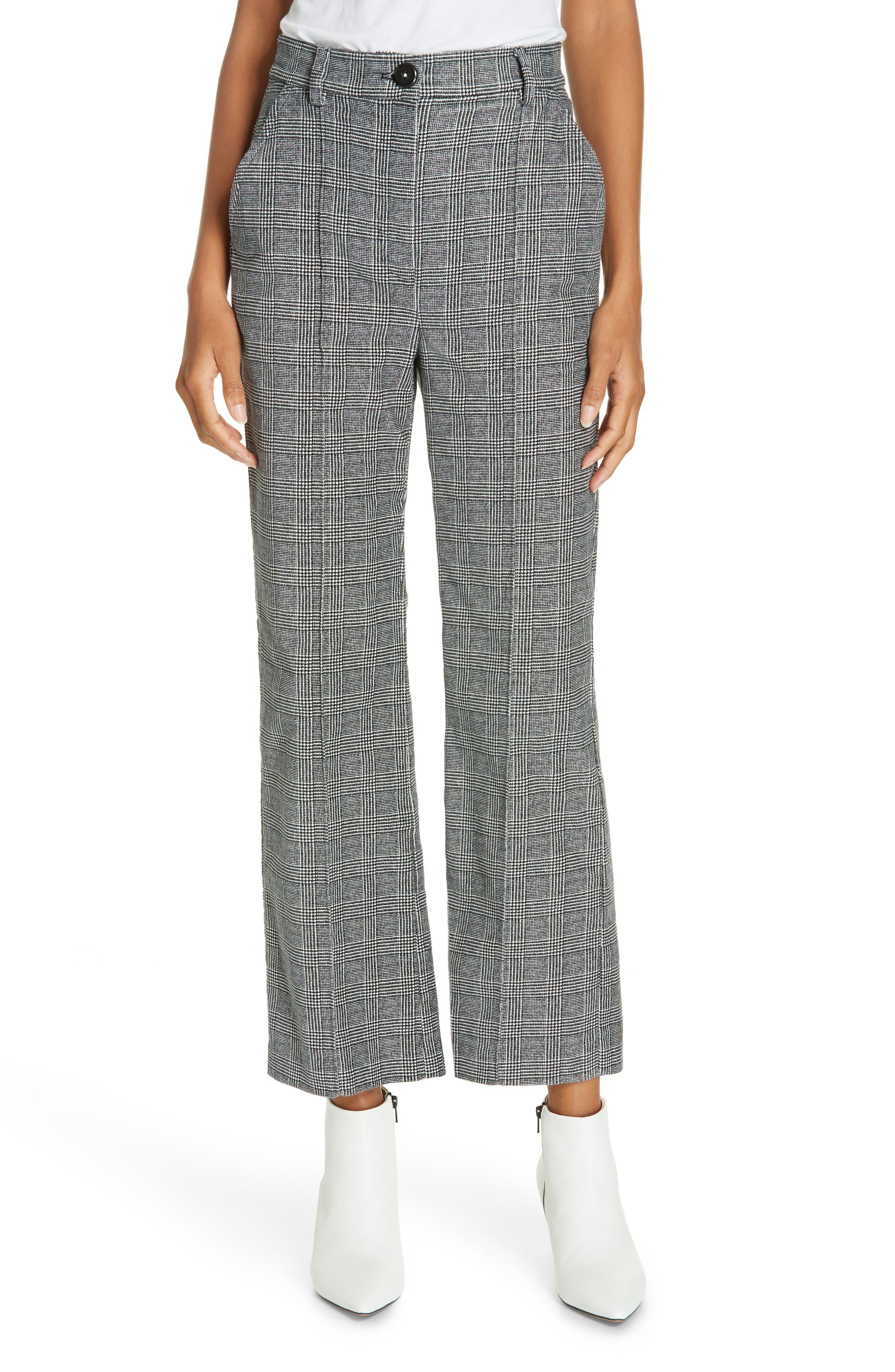 LA VIE REBECCA TAYLOR Glen Plaid Pants, Main, color, SAND COMBO