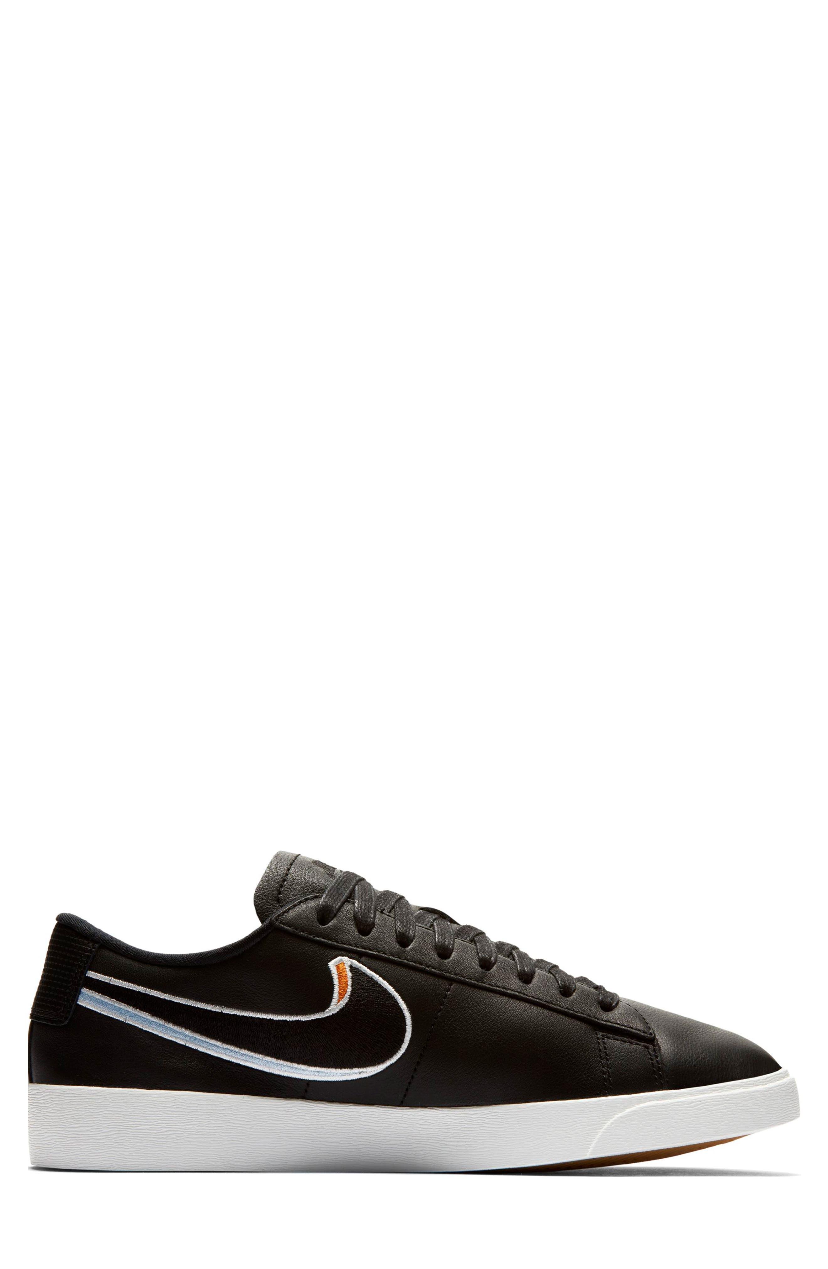 Blazer Low LX Sneaker,                             Alternate thumbnail 3, color,                             BLACK/ ROYAL TINT/ MONARCH
