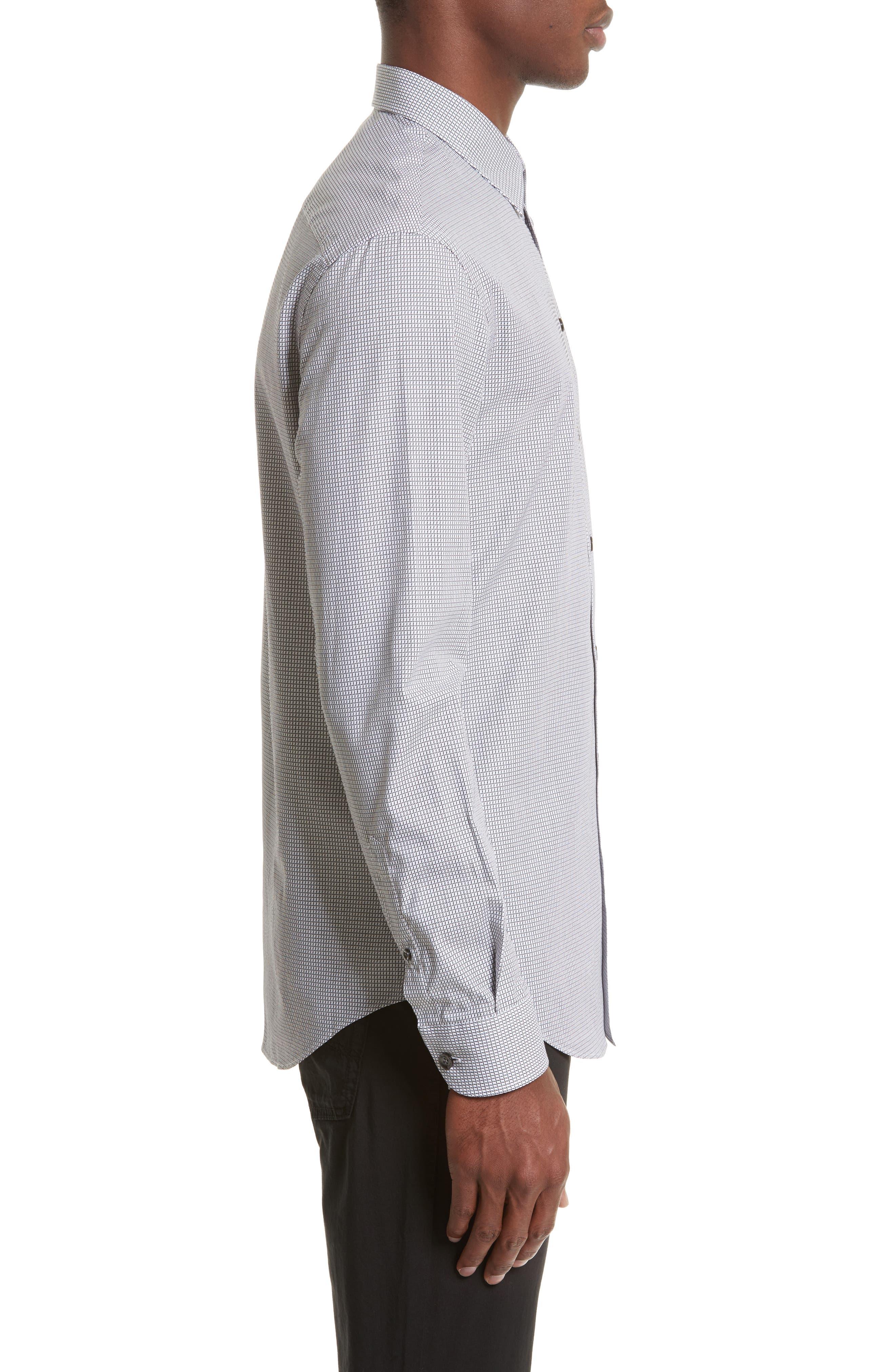 Regular Fit Check Sport Shirt,                             Alternate thumbnail 3, color,