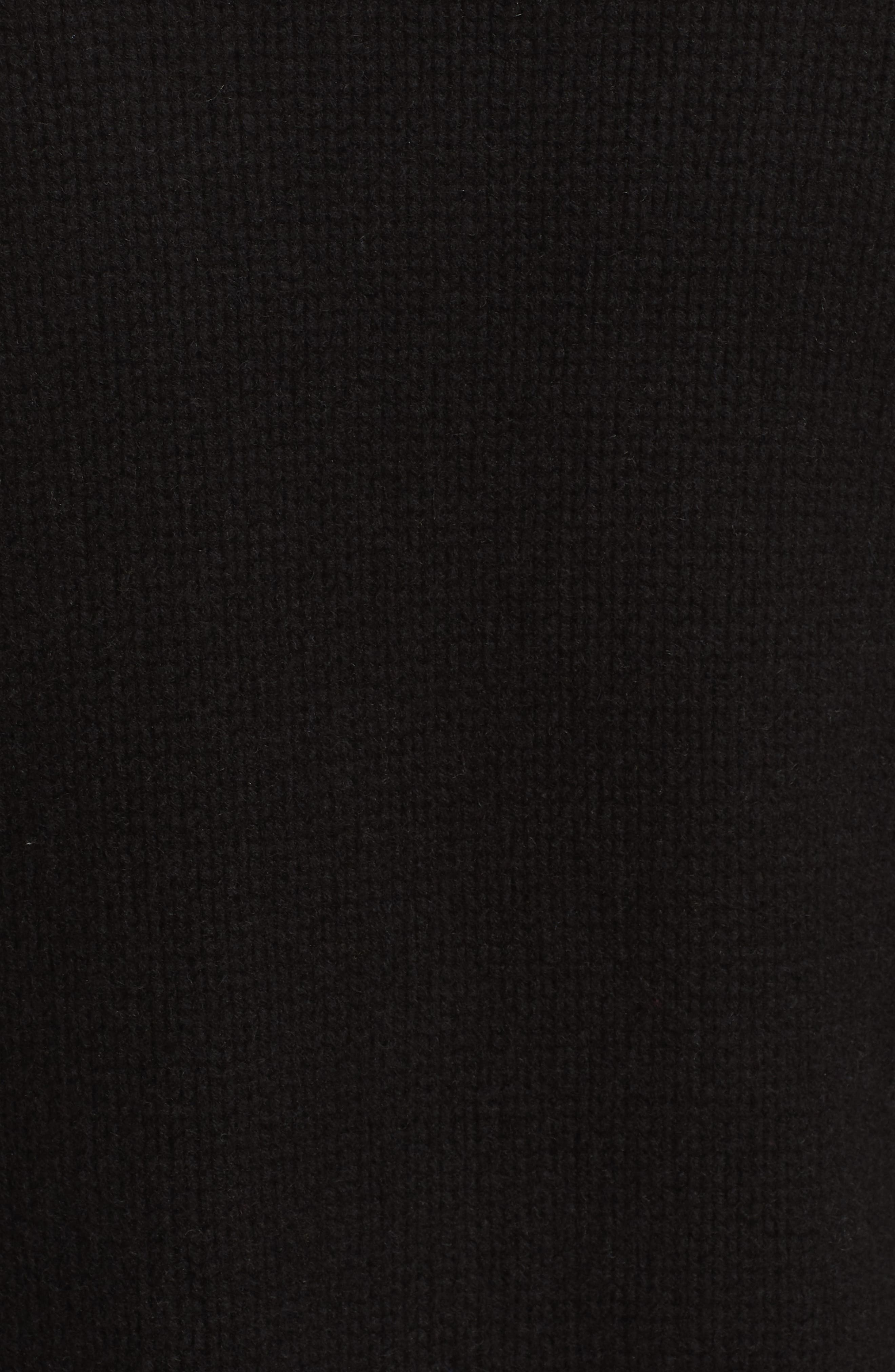 Martha Wool & Cashmere Cardigan,                             Alternate thumbnail 5, color,                             BLACK/ CREAM
