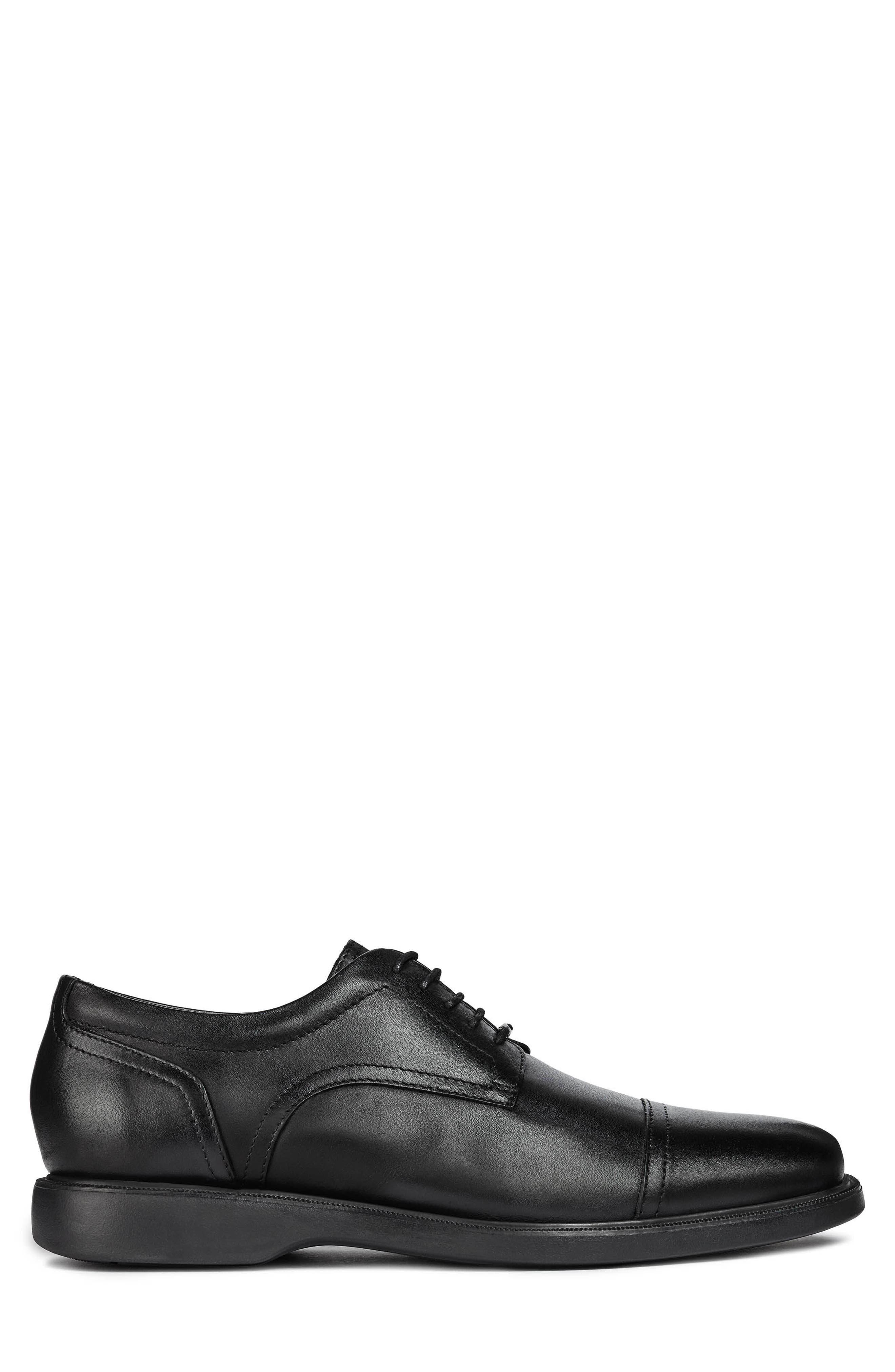 Brayden 2Fit ABX 9 Waterproof Cap Toe Derby,                             Alternate thumbnail 3, color,                             BLACK LEATHER
