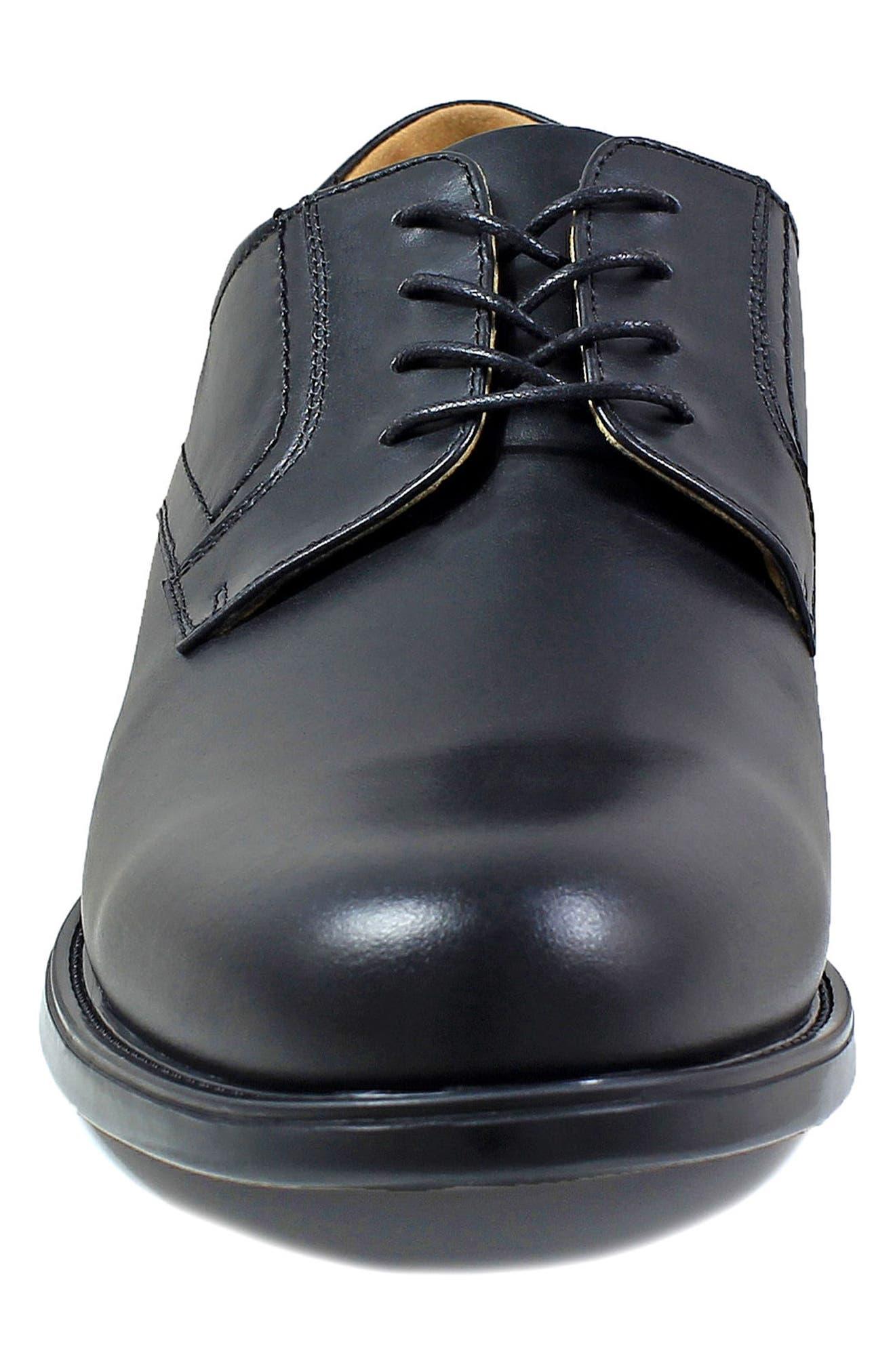 Midtown Waterproof Plain Toe Derby,                             Alternate thumbnail 4, color,                             BLACK