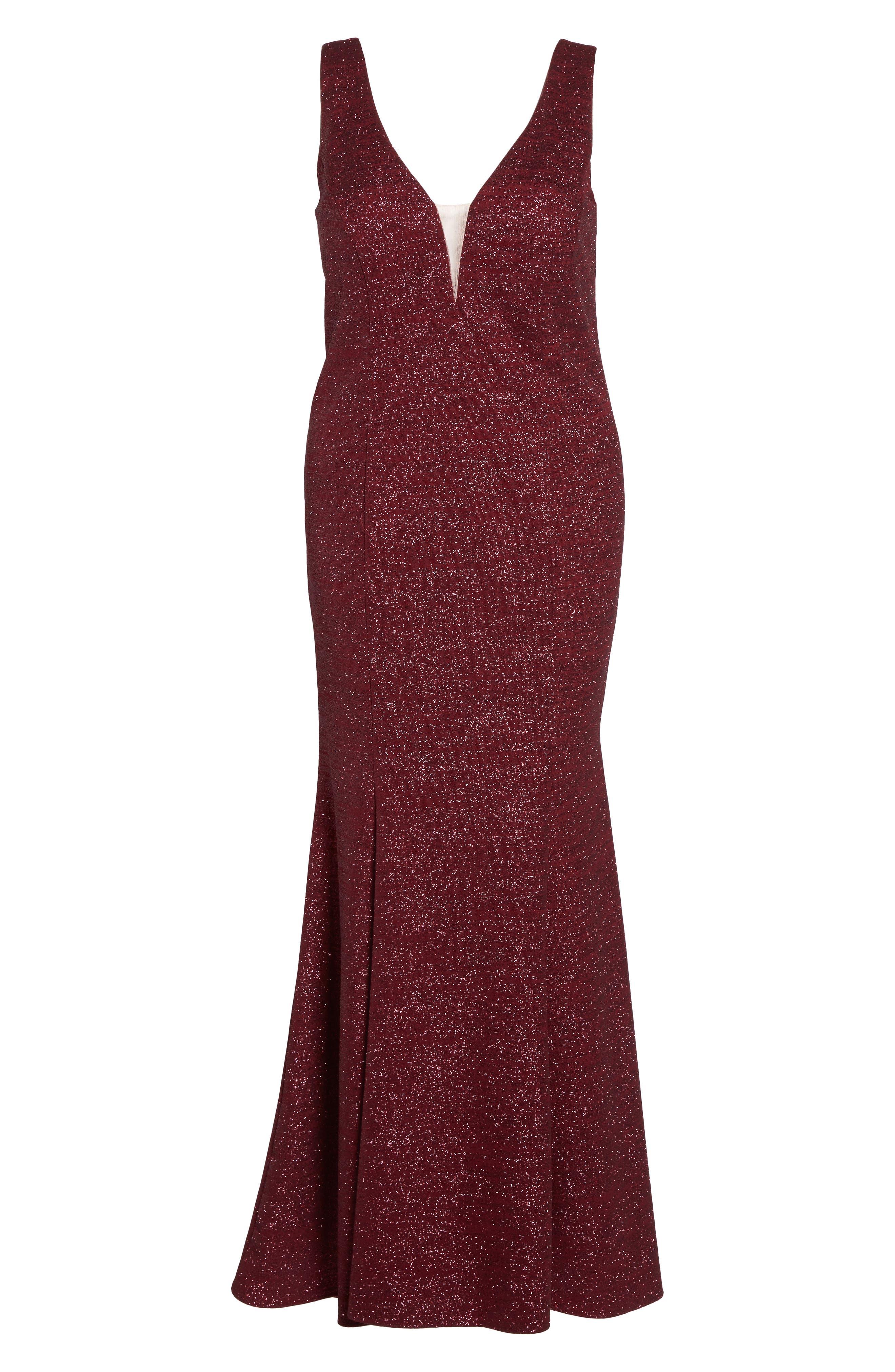 Metallic Knit Mermaid Gown,                             Alternate thumbnail 6, color,                             600