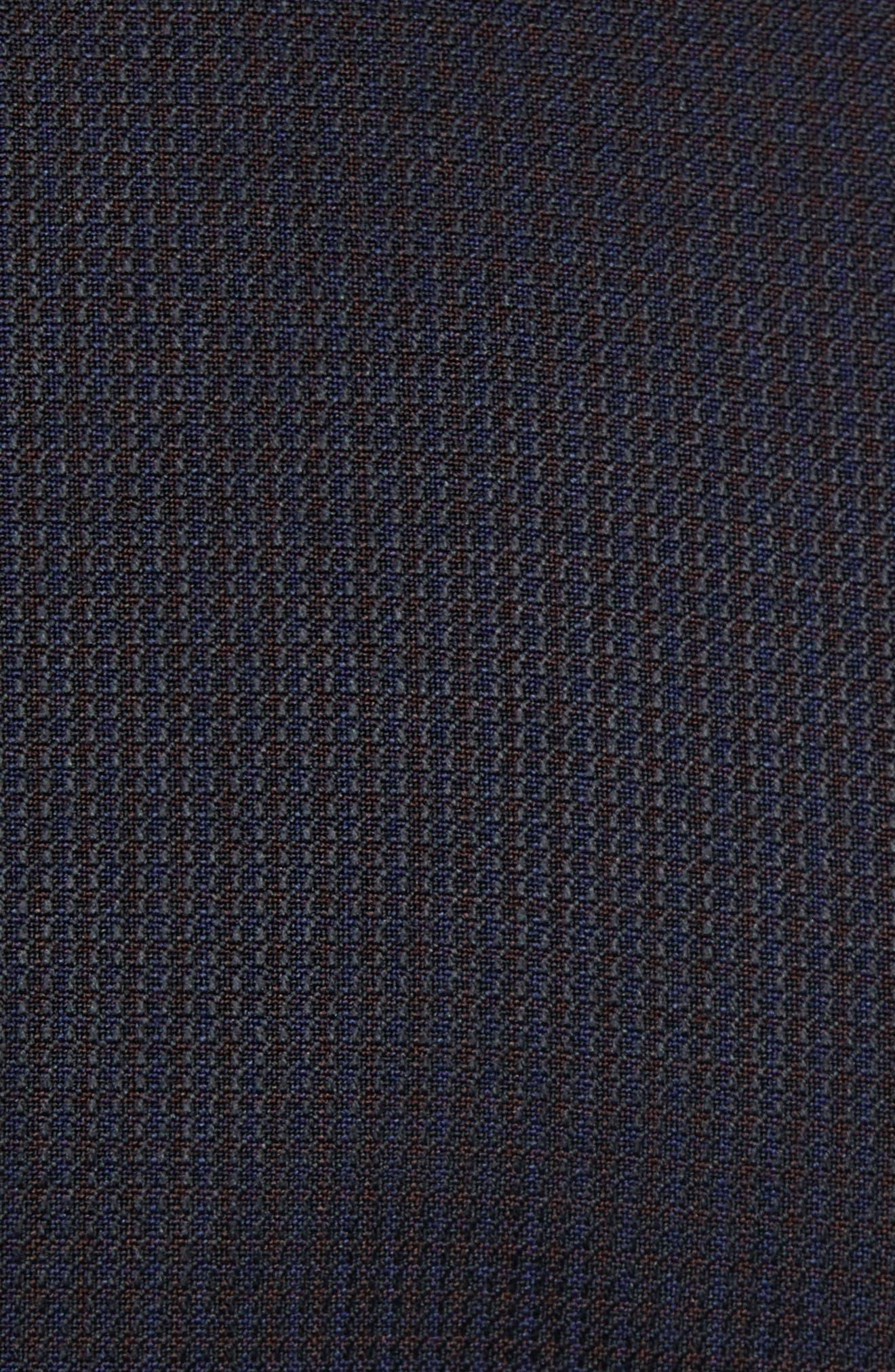 Reymond/Wenten Extra Trim Fit Solid Wool Suit,                             Alternate thumbnail 7, color,                             DARK PURPLE