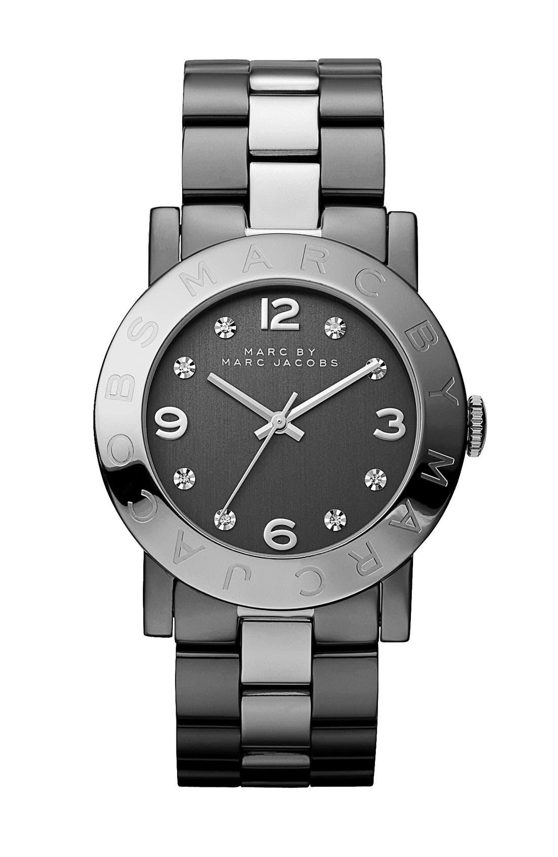 'Amy' Crystal Bracelet Watch, 36mm,                         Main,                         color, 020