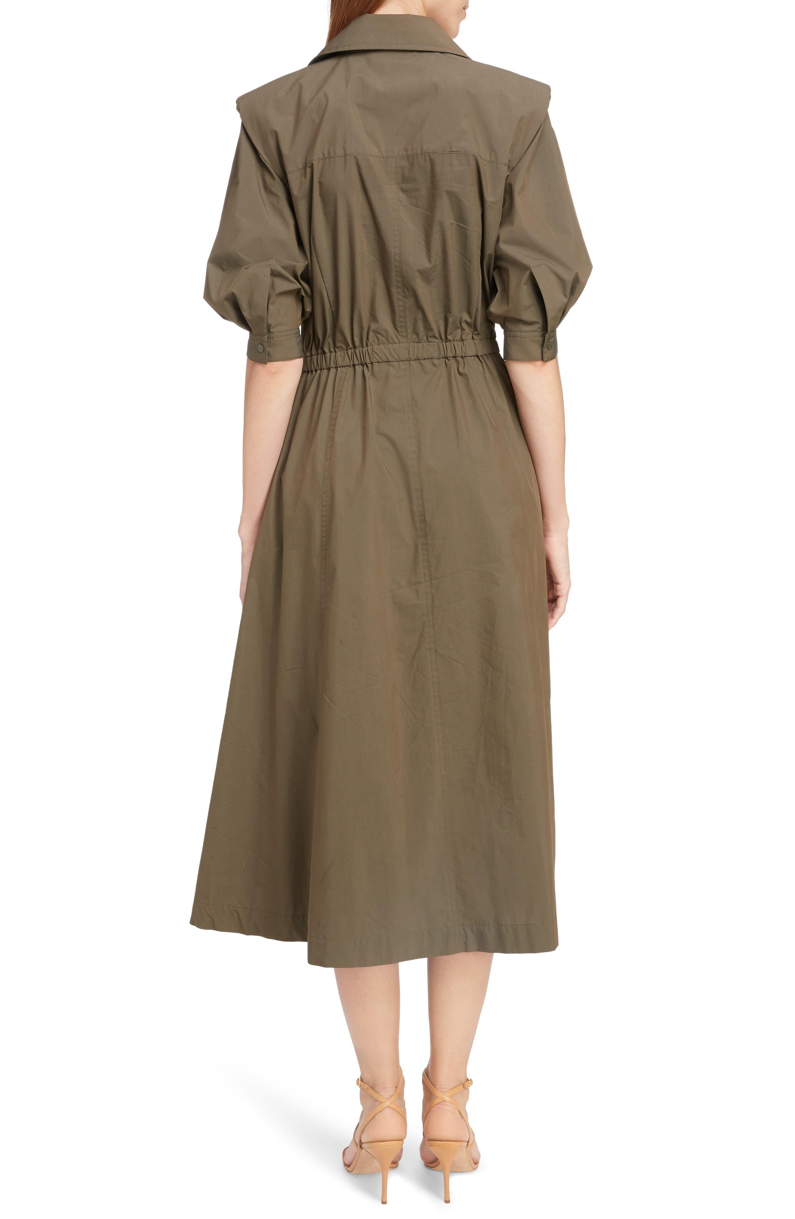 TOGA,                             Trench Taffeta Shirtdress,                             Alternate thumbnail 2, color,                             BROWN