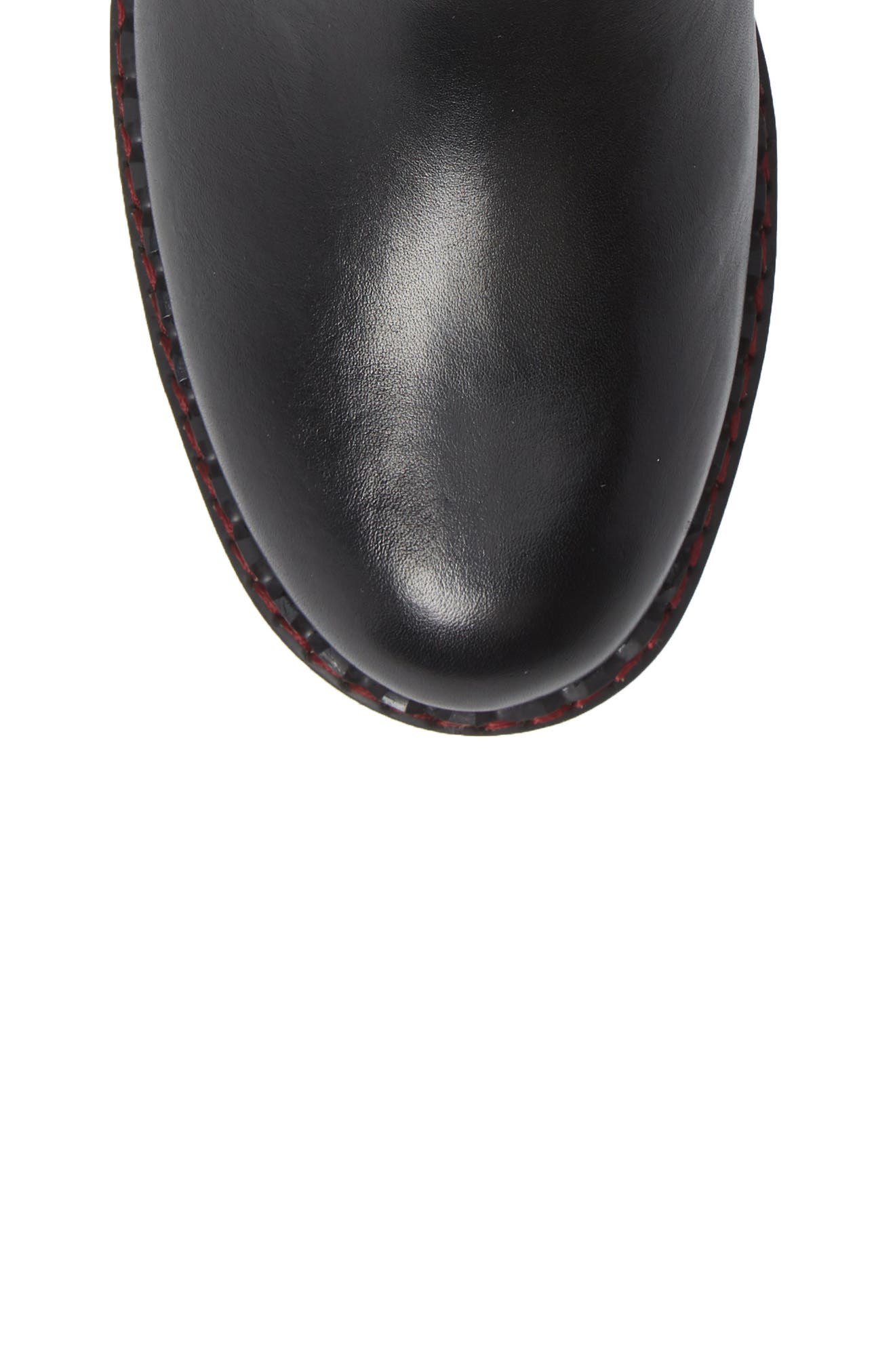 Vicar Boot,                             Alternate thumbnail 5, color,                             BLACK LEATHER