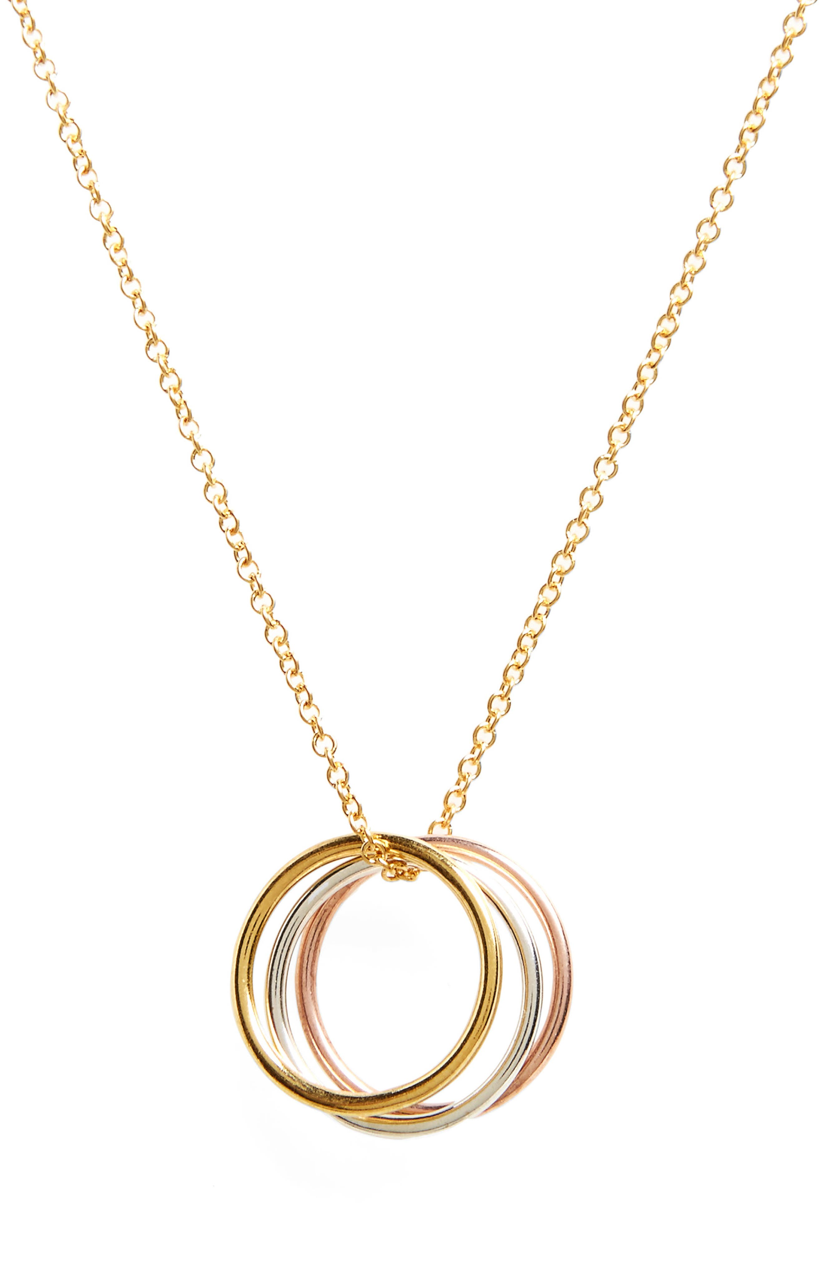 Triple Karma Pendant Necklace,                             Main thumbnail 1, color,                             711