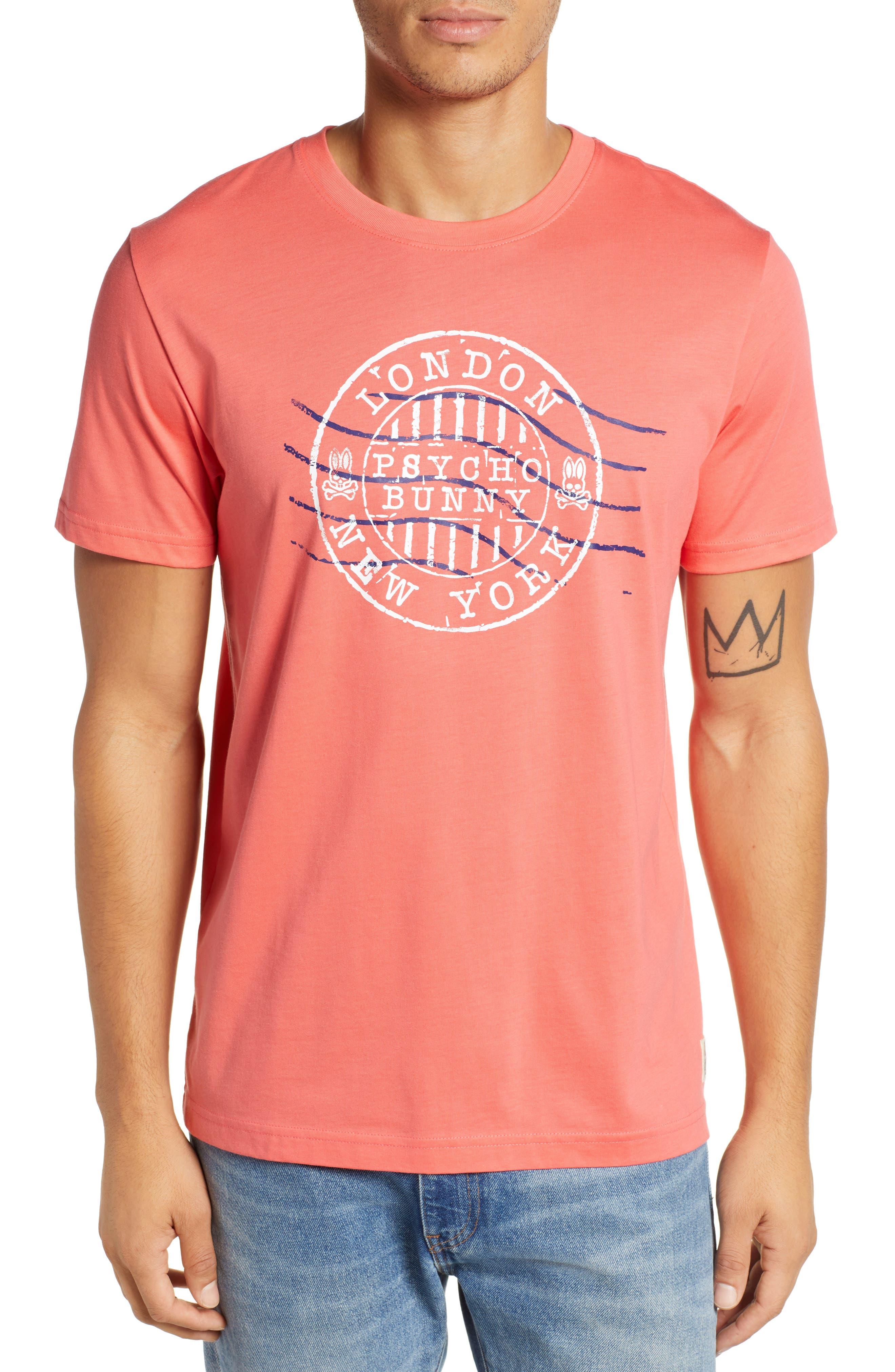 Ashton Graphic T-Shirt, Main, color, CAMPARI