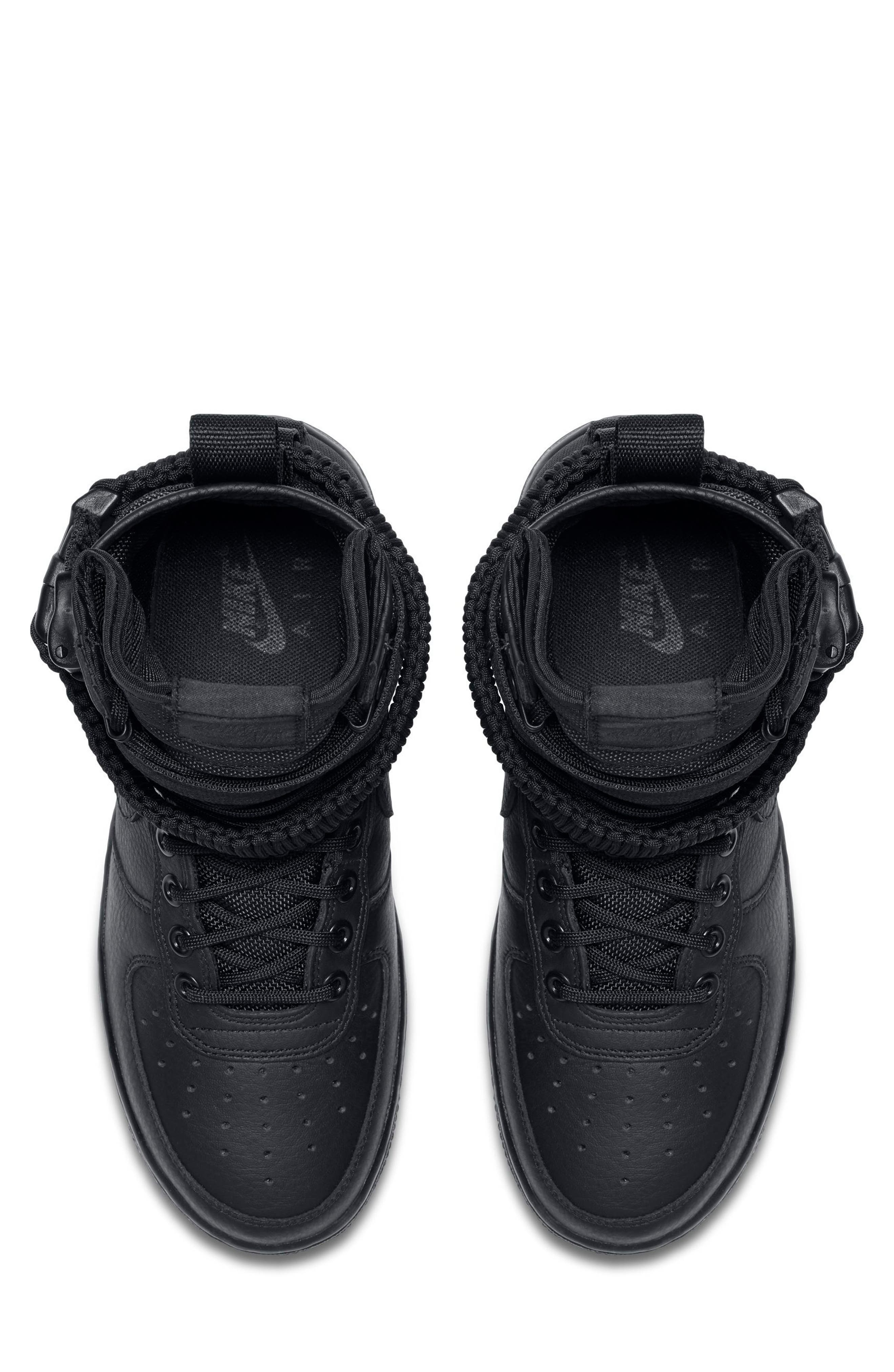 SF Air Force 1 High Top Sneaker,                             Alternate thumbnail 4, color,                             002