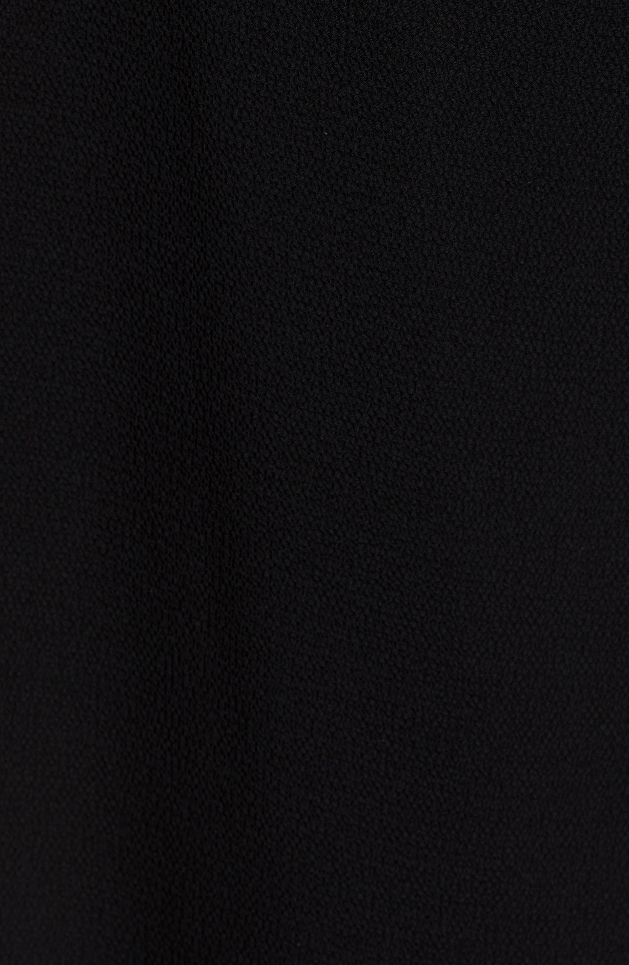 Ruffle Wrap Dress,                             Alternate thumbnail 6, color,                             BLACK