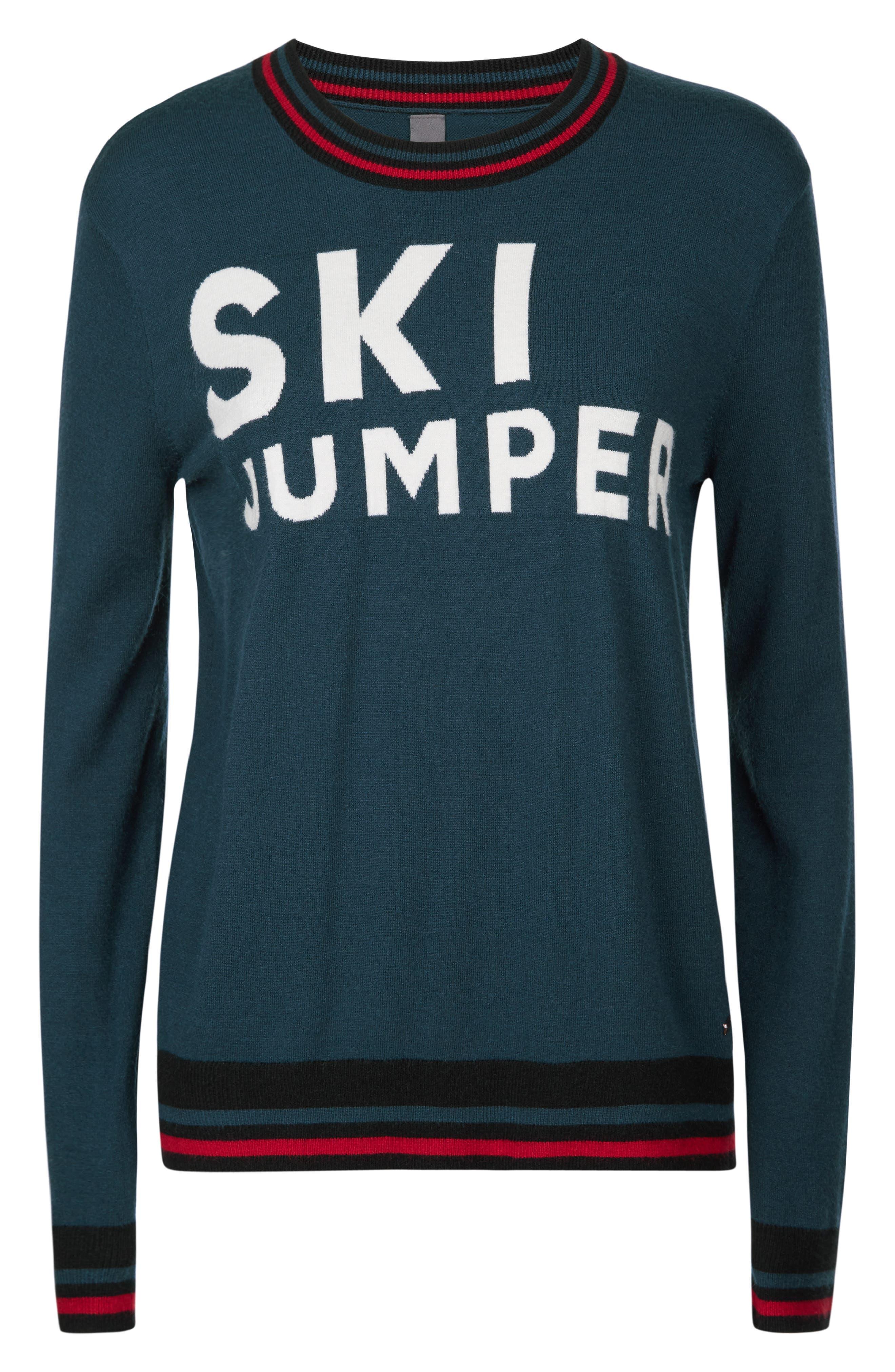 Ski Jumper Sweater,                             Alternate thumbnail 4, color,                             BEETLE BLUE