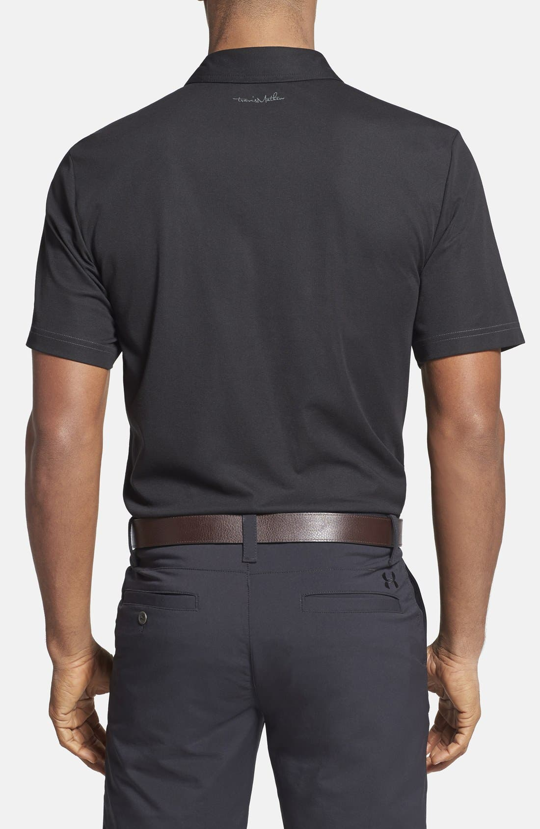 TRAVIS MATHEW,                             'Crenshaw' Trim Fit Golf Polo,                             Alternate thumbnail 2, color,                             001