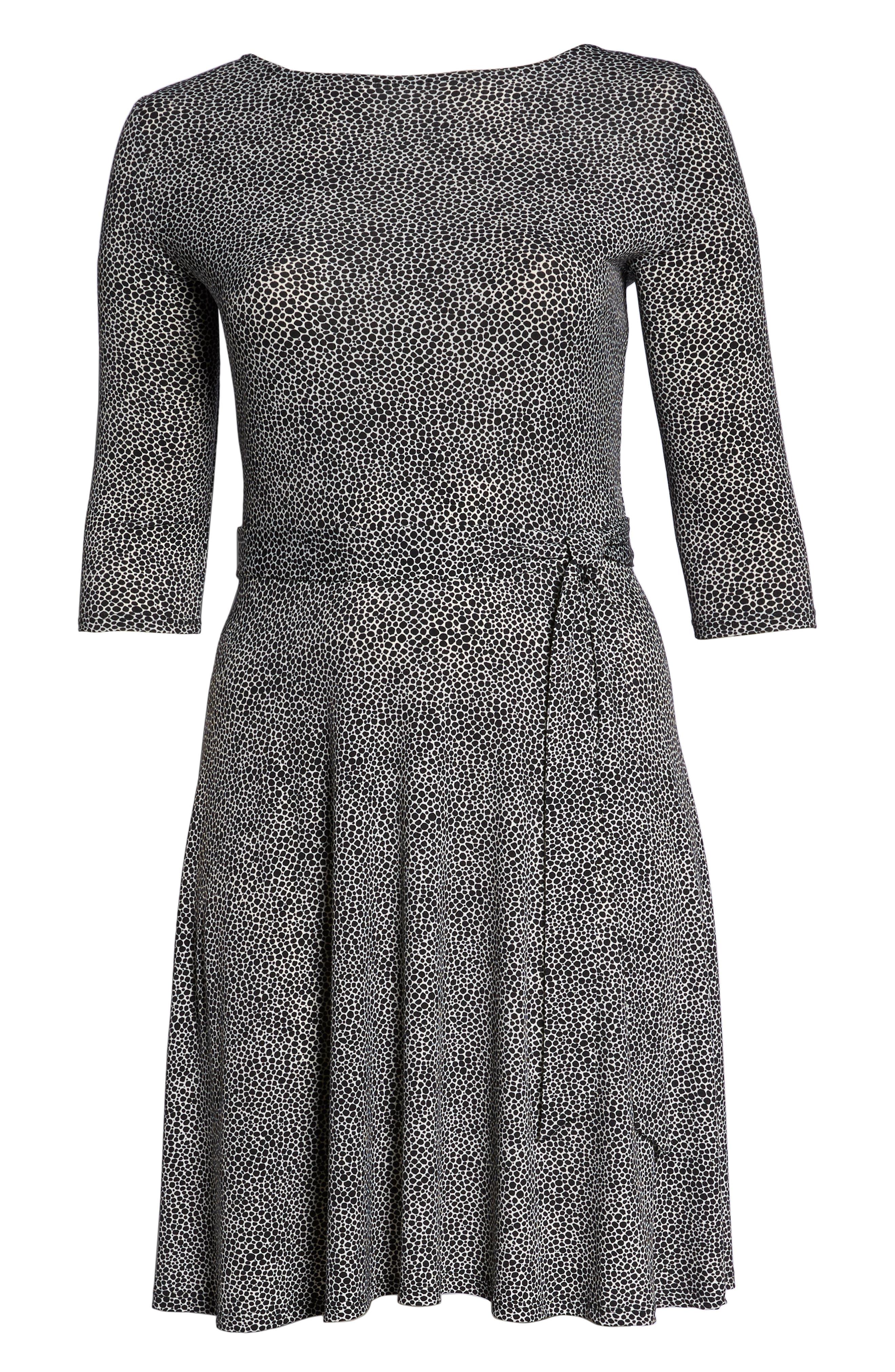 Llana Stretch Jersey Dress,                             Alternate thumbnail 7, color,                             PEBBLE