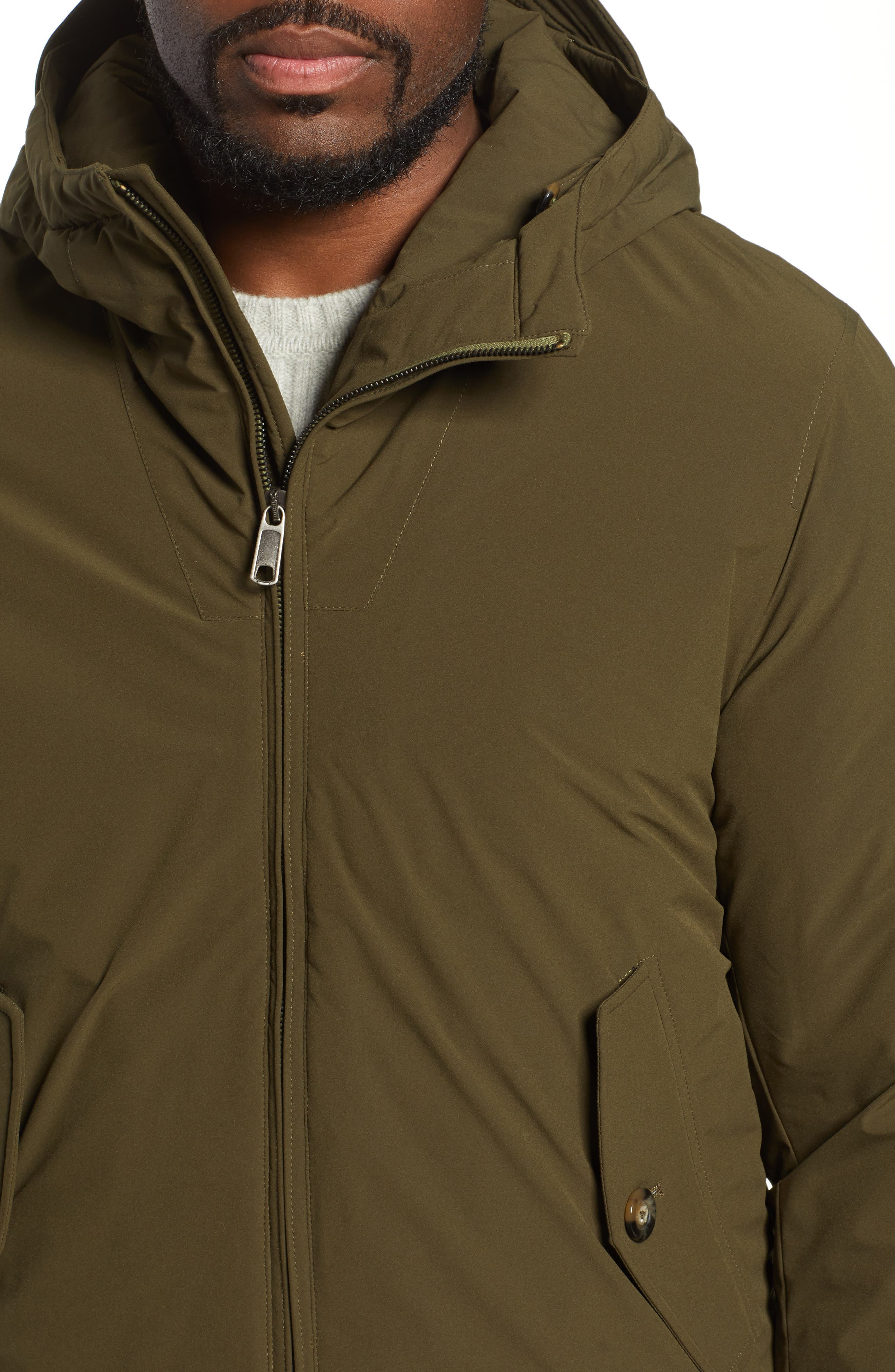 Hardy Stretch Water Repellent Anorak,                             Alternate thumbnail 4, color,                             BEECH