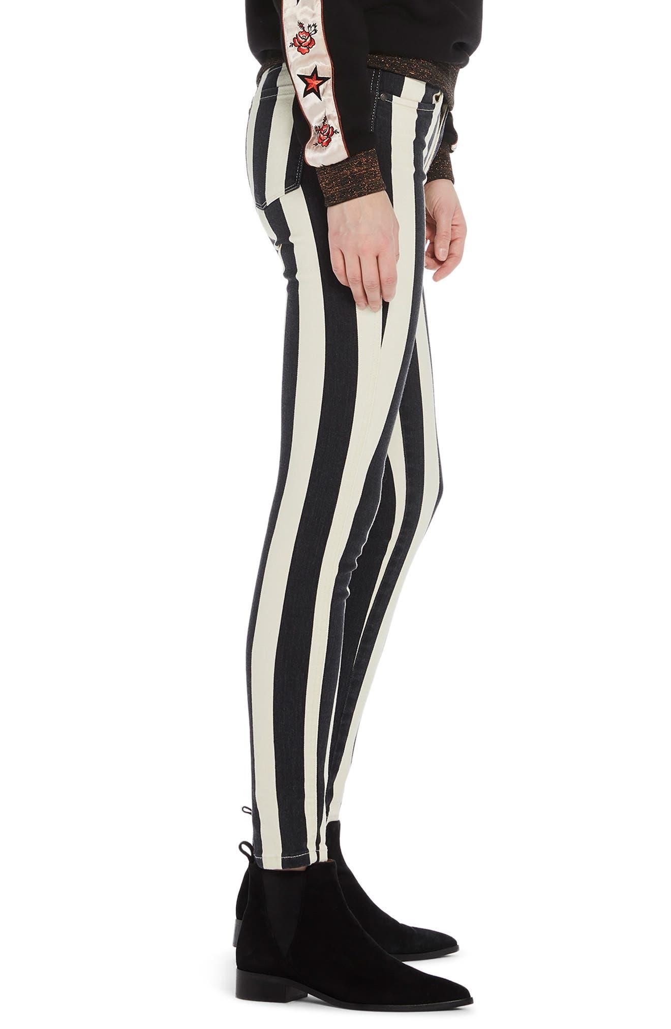 La Bohemienne Skinny Fit Pants,                             Alternate thumbnail 3, color,                             400