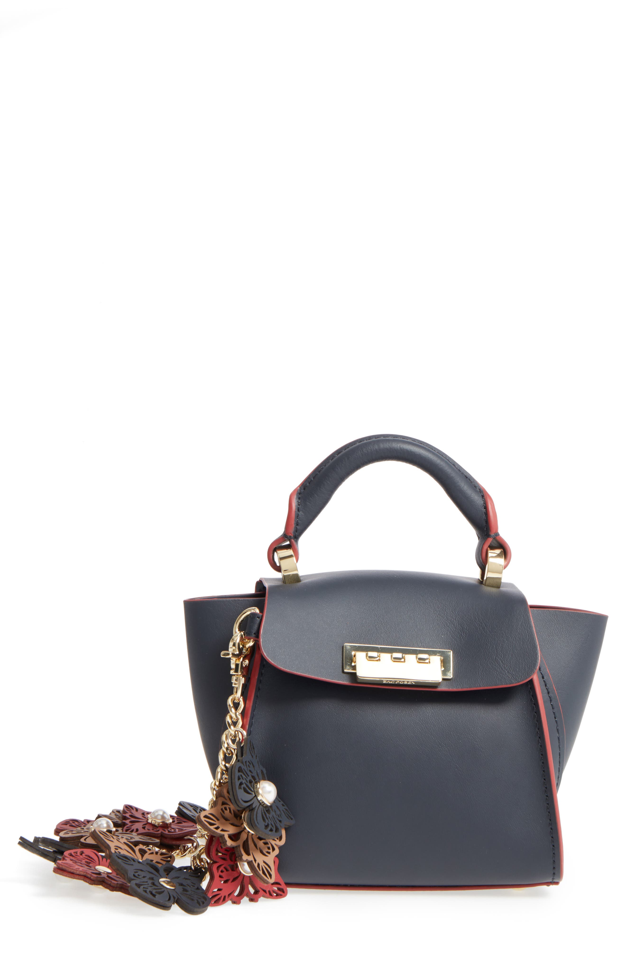 Eartha Iconic Calfskin Leather Satchel with Novelty Strap,                         Main,                         color, 410