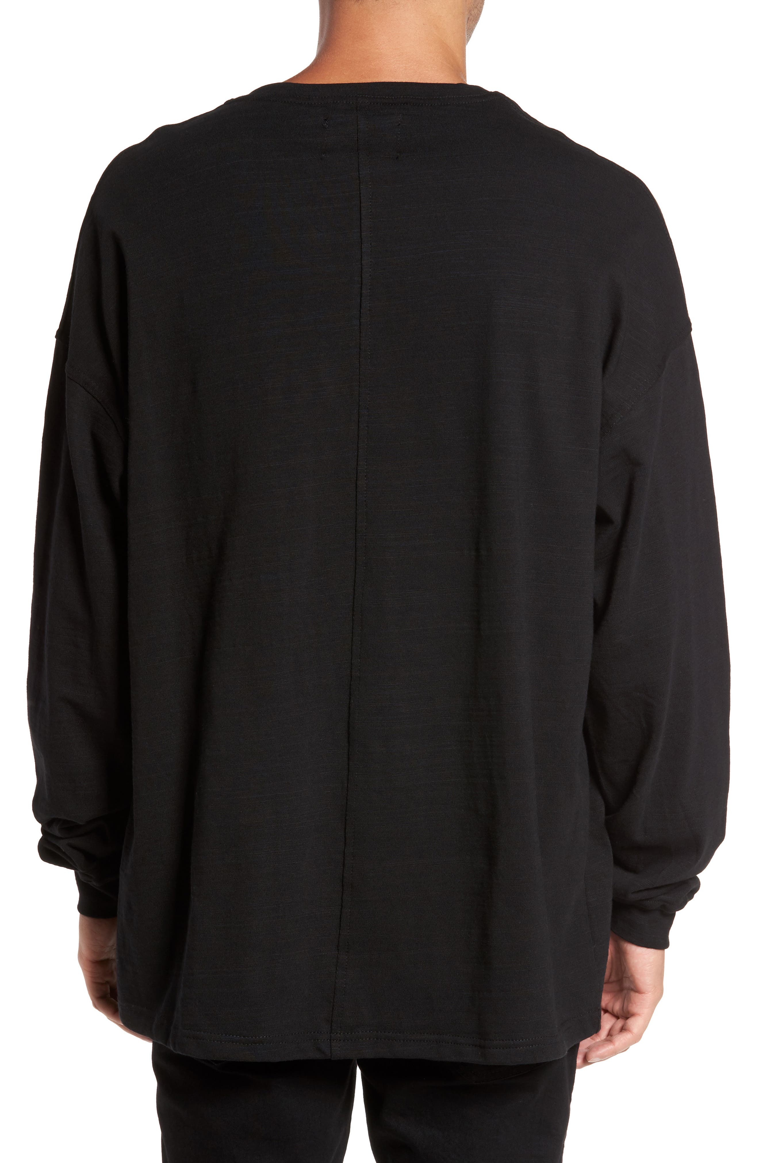 Relaxed Fit Long Sleeve T-Shirt,                             Alternate thumbnail 2, color,                             001