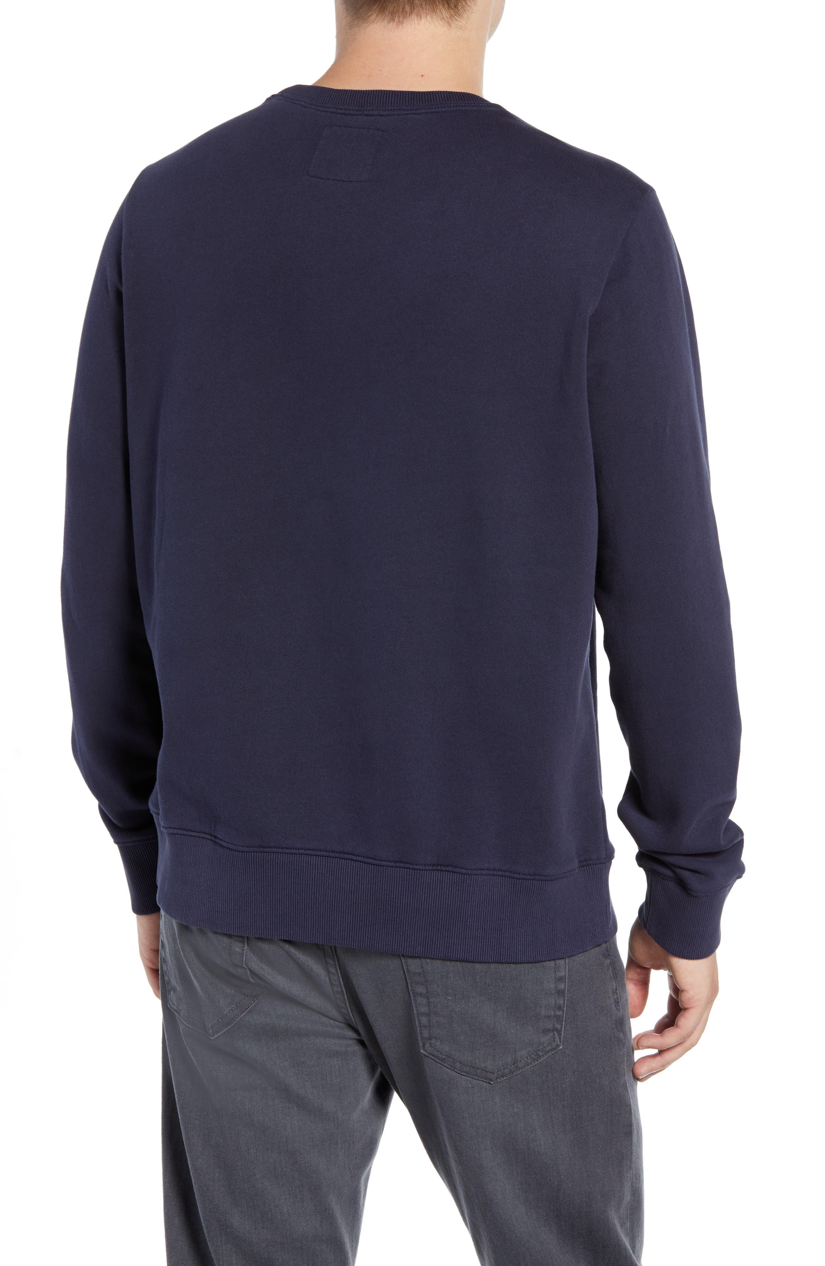Slim Fit Lion Embroidered Sweatshirt,                             Alternate thumbnail 2, color,                             NAVY BLAZER