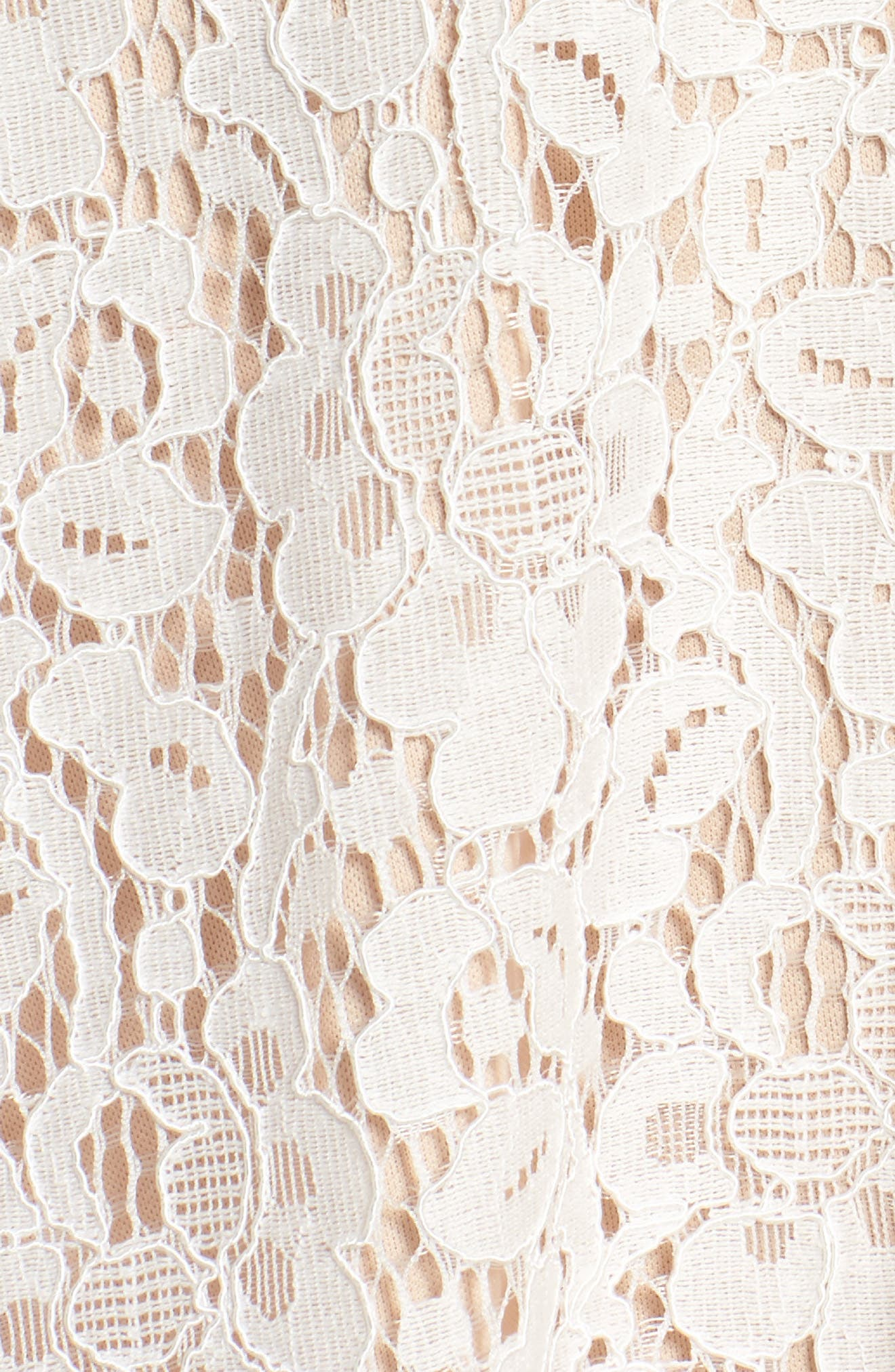 Lace Fit & Flare Dress,                             Alternate thumbnail 6, color,                             IVORY