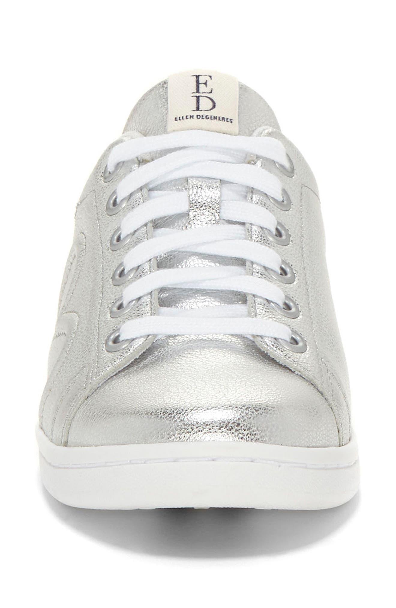 Chapunto Sneaker,                             Alternate thumbnail 4, color,                             SILVER SUEDE