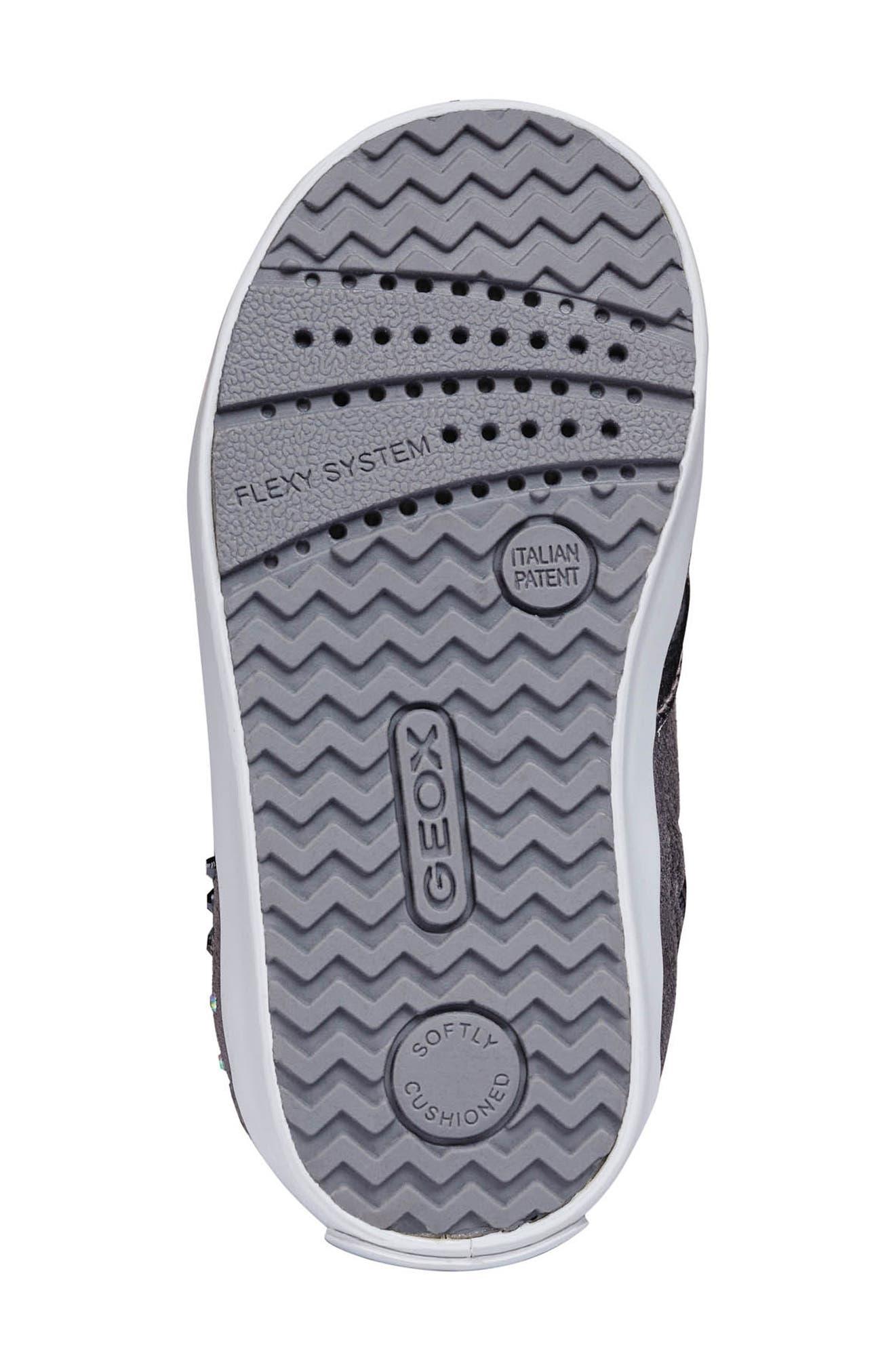 Kilwi High Top Sneaker,                             Alternate thumbnail 5, color,                             DARK GREY