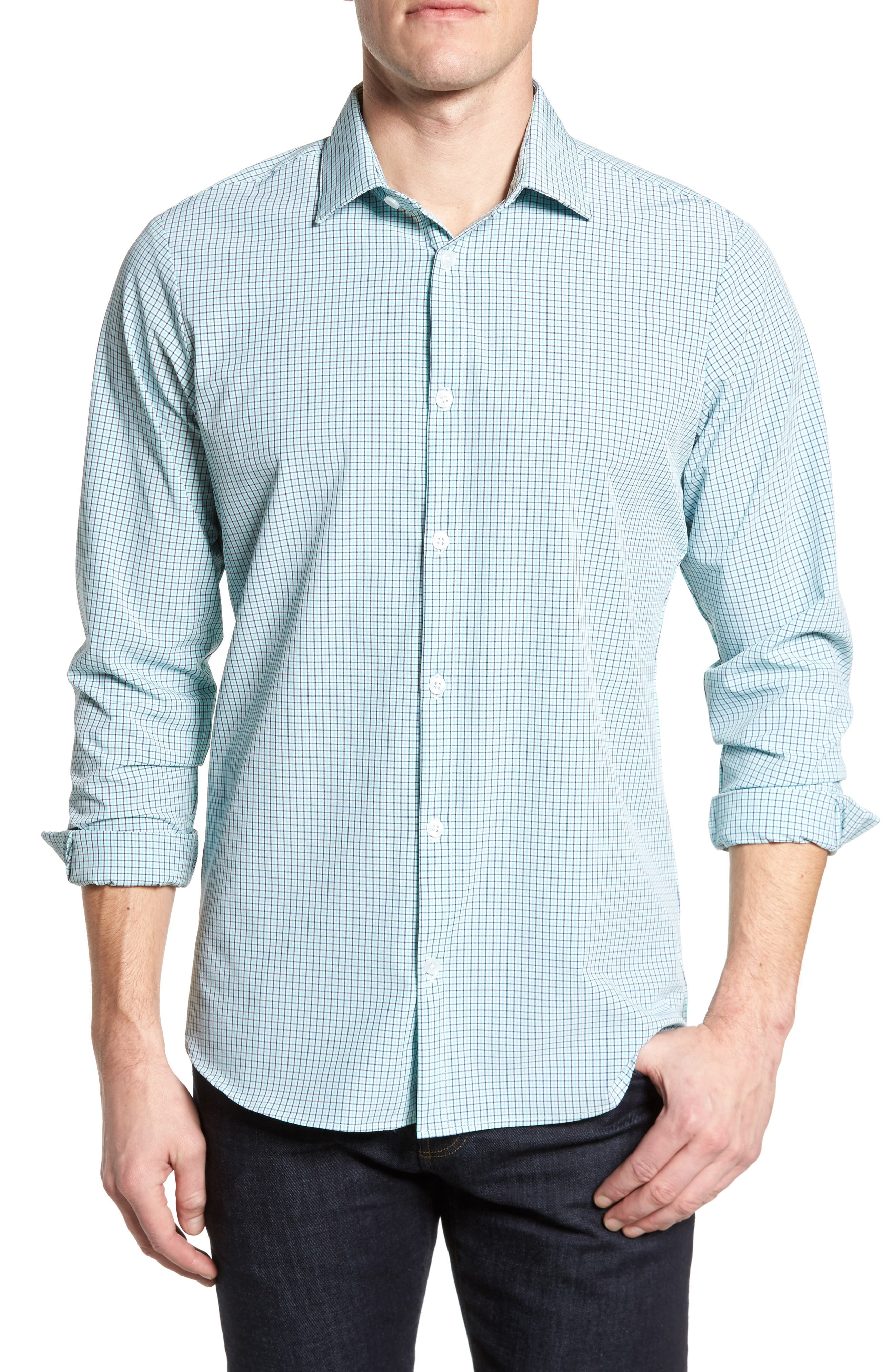 Ventura Check Sport Shirt,                         Main,                         color, 377