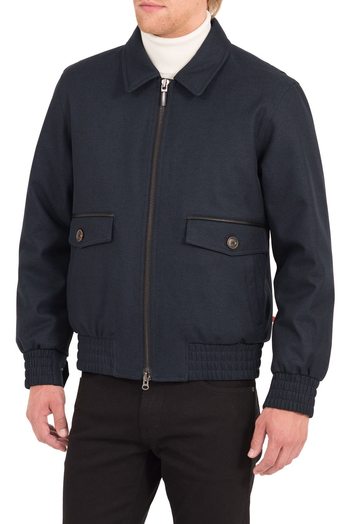 Cavalry Twill Bomber Jacket,                             Alternate thumbnail 3, color,                             407