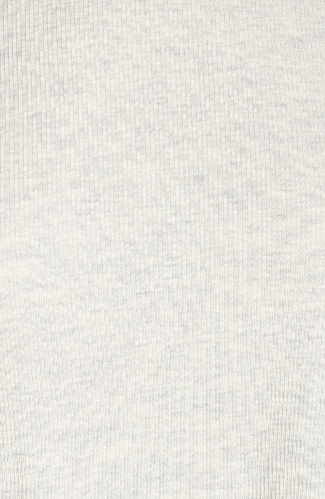 Daydream Crop Long Sleeve Tee,                             Alternate thumbnail 5, color,                             GREY HEATHER