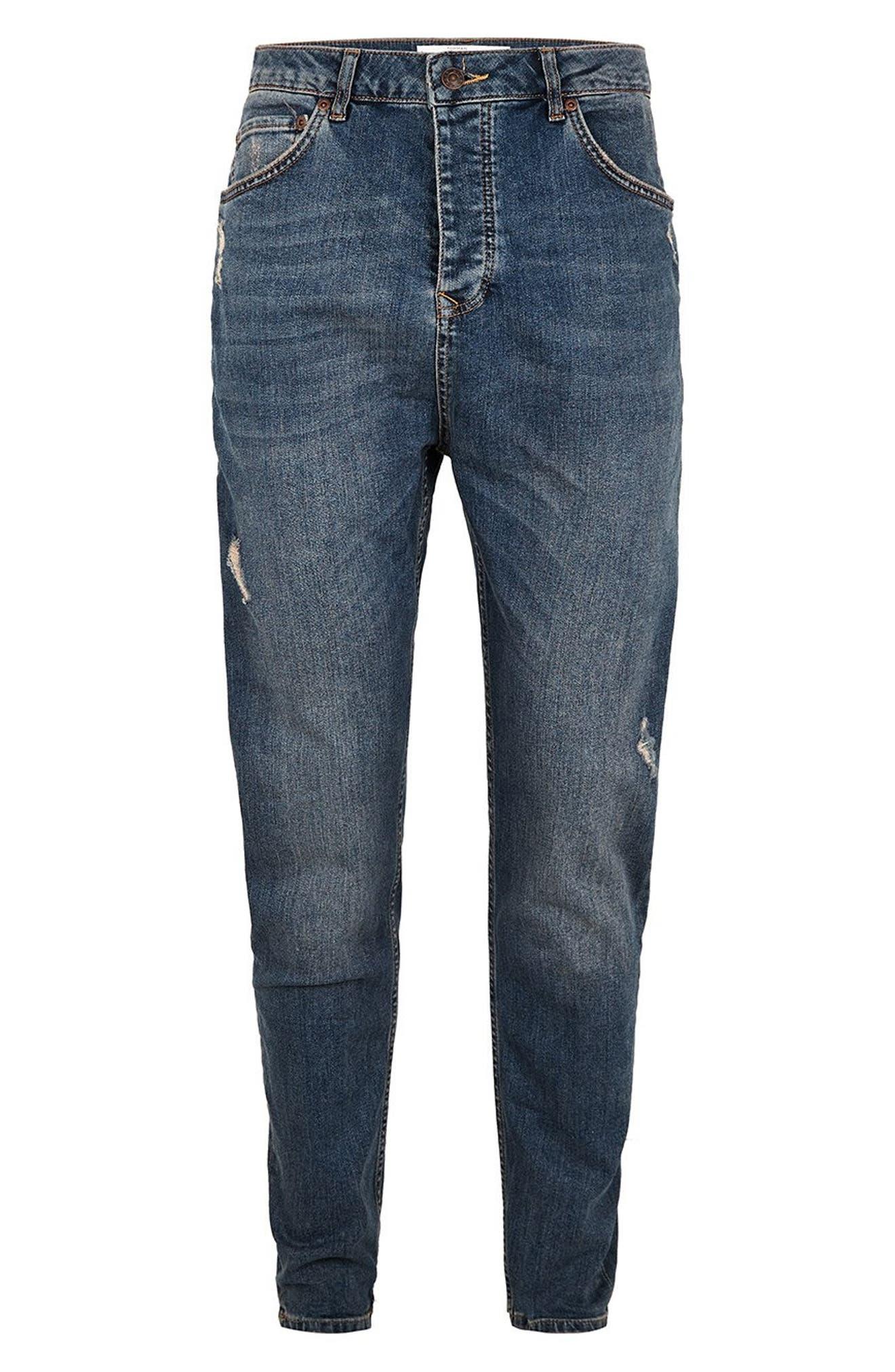 Taper Jeans,                             Alternate thumbnail 5, color,                             BLUE
