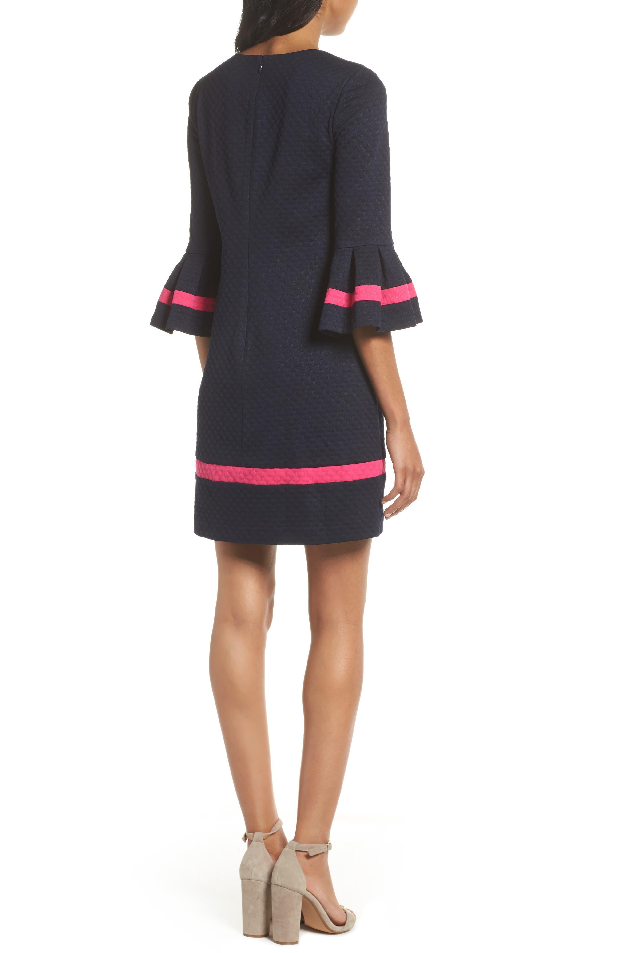 ELIZA J,                             Bell Sleeve Shift Dress,                             Alternate thumbnail 2, color,                             NAVY