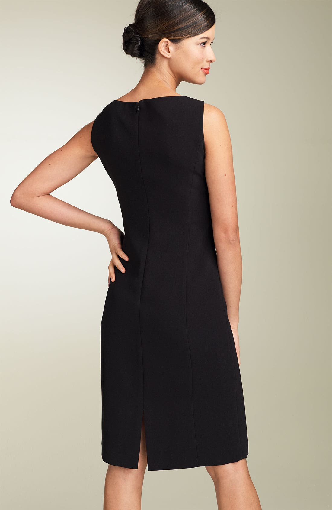 by Arthur S. Levine Crepe Sheath Dress,                             Alternate thumbnail 9, color,                             BLACK