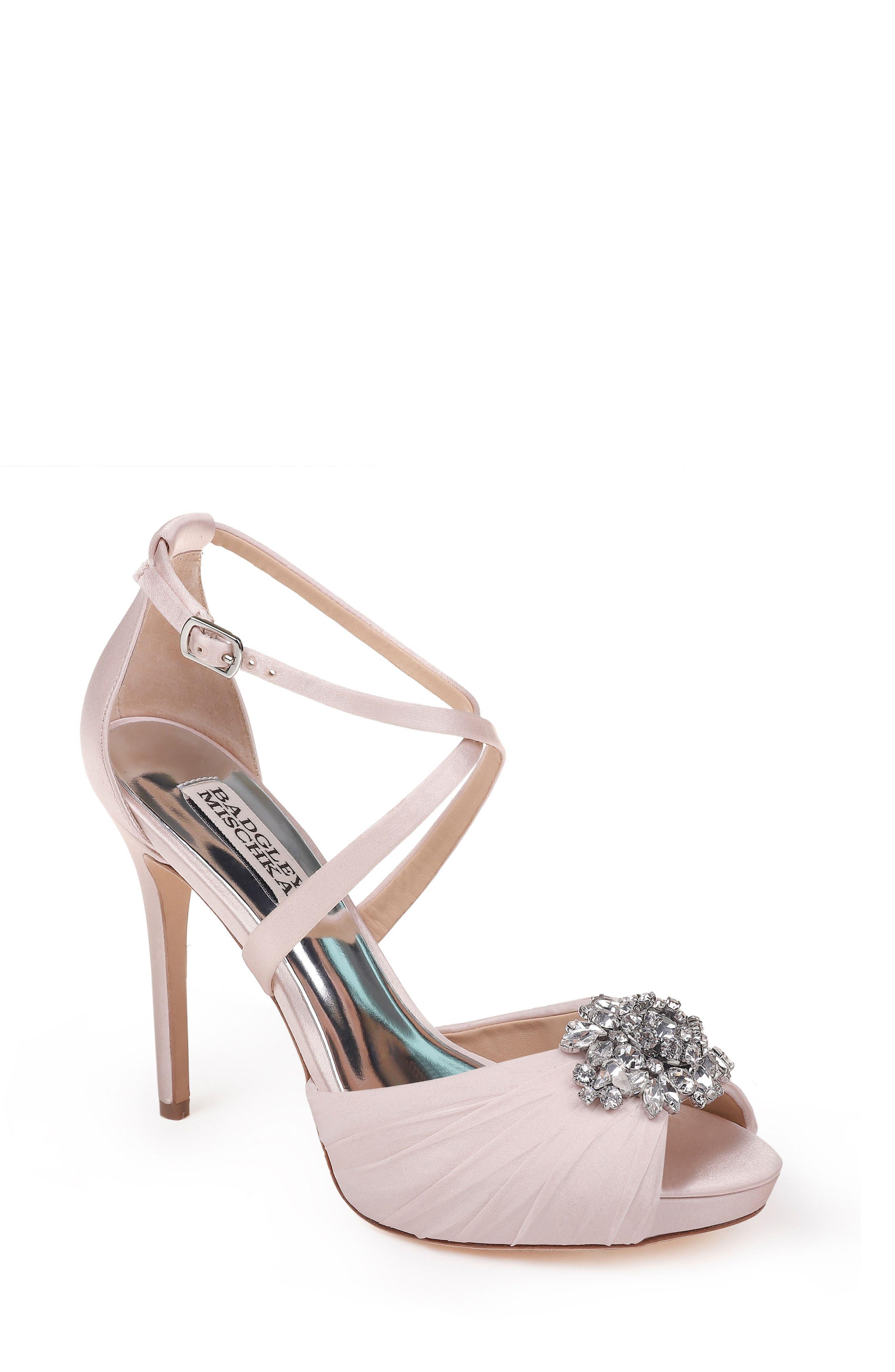 Sadie Strappy Sandal,                         Main,                         color, LIGHT PINK SATIN