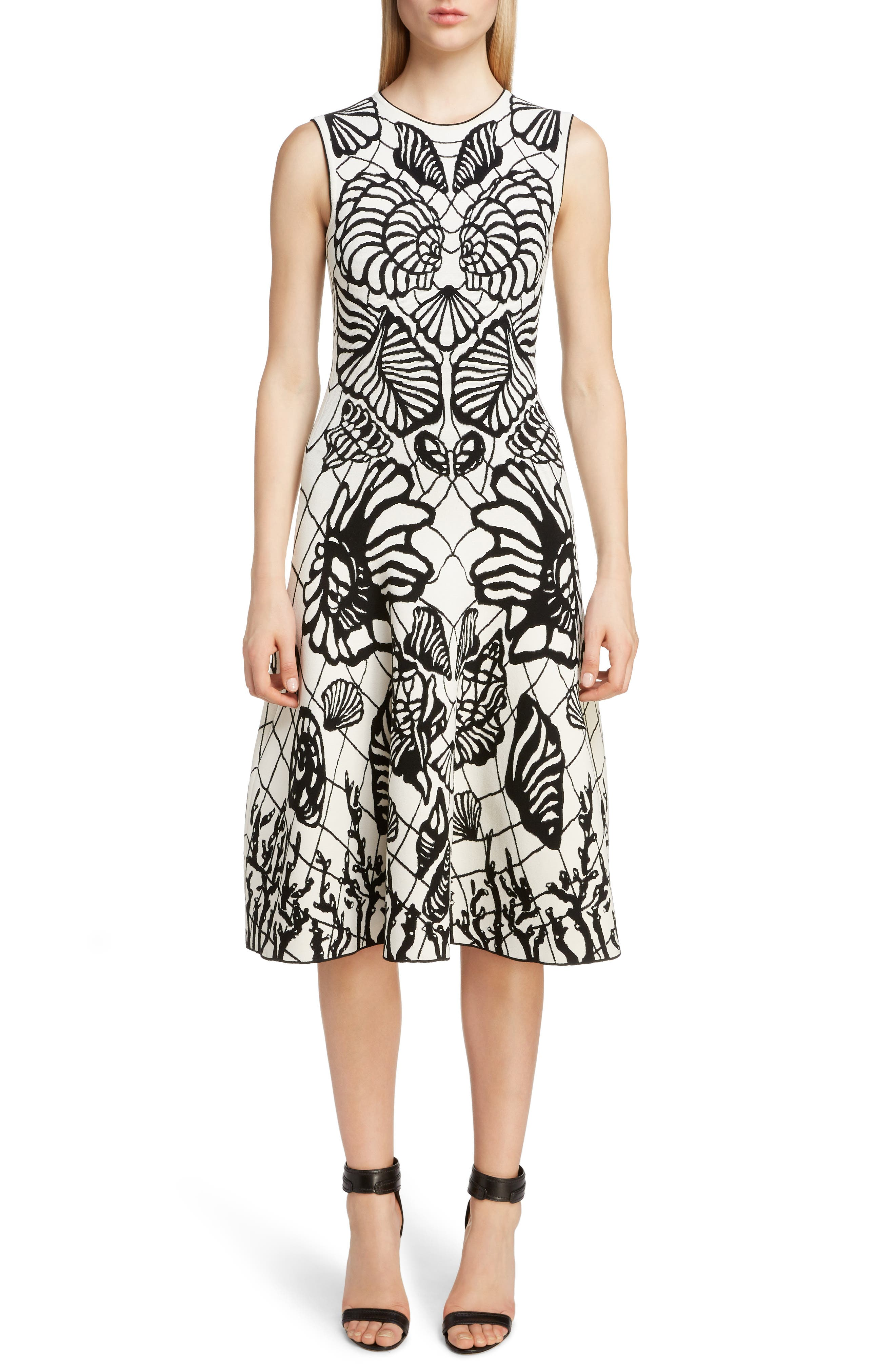 Alexander Mcqueen Shell Jacquard A-Line Dress