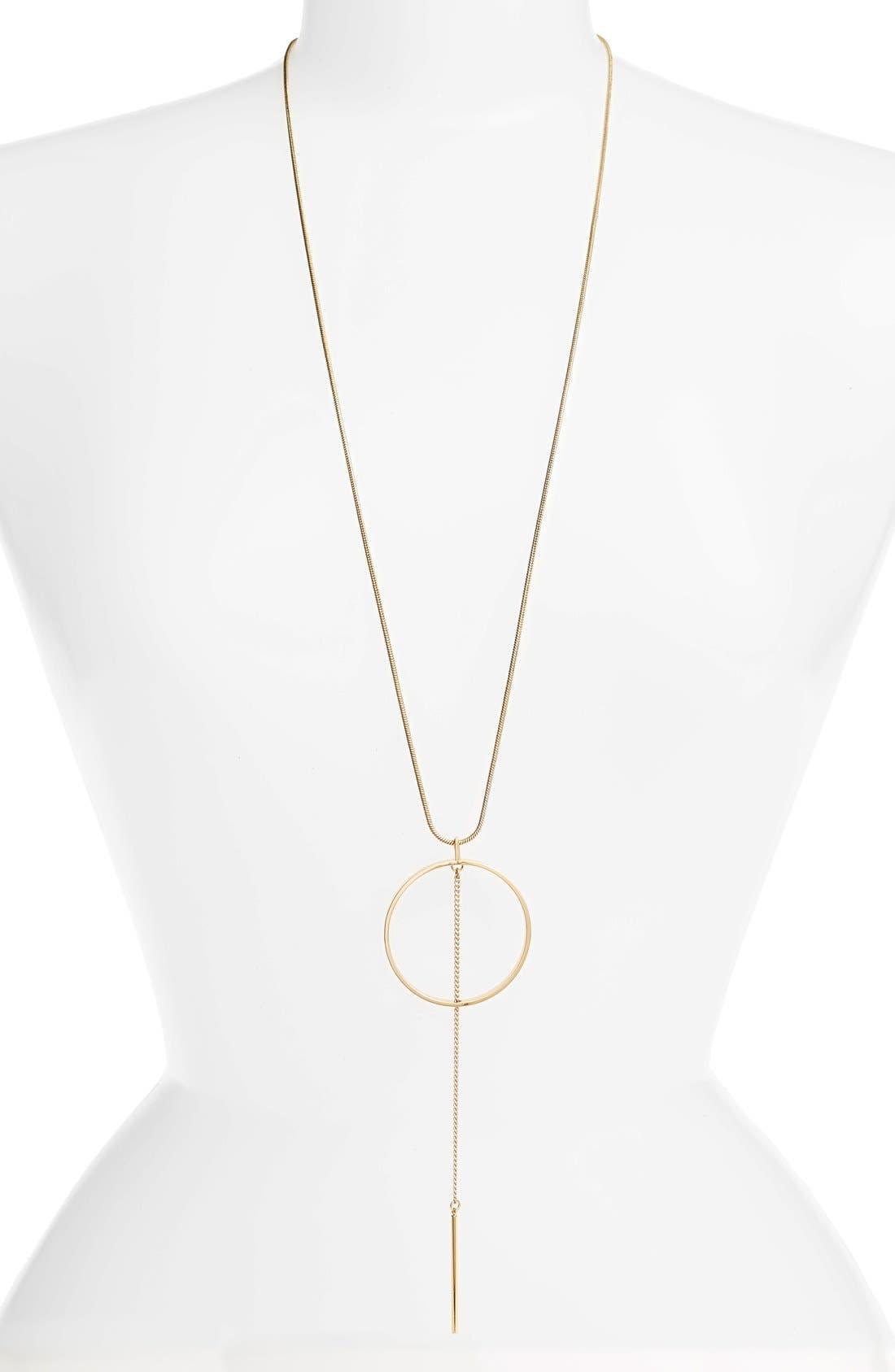 Rhine Pendant Necklace,                         Main,                         color, GOLD