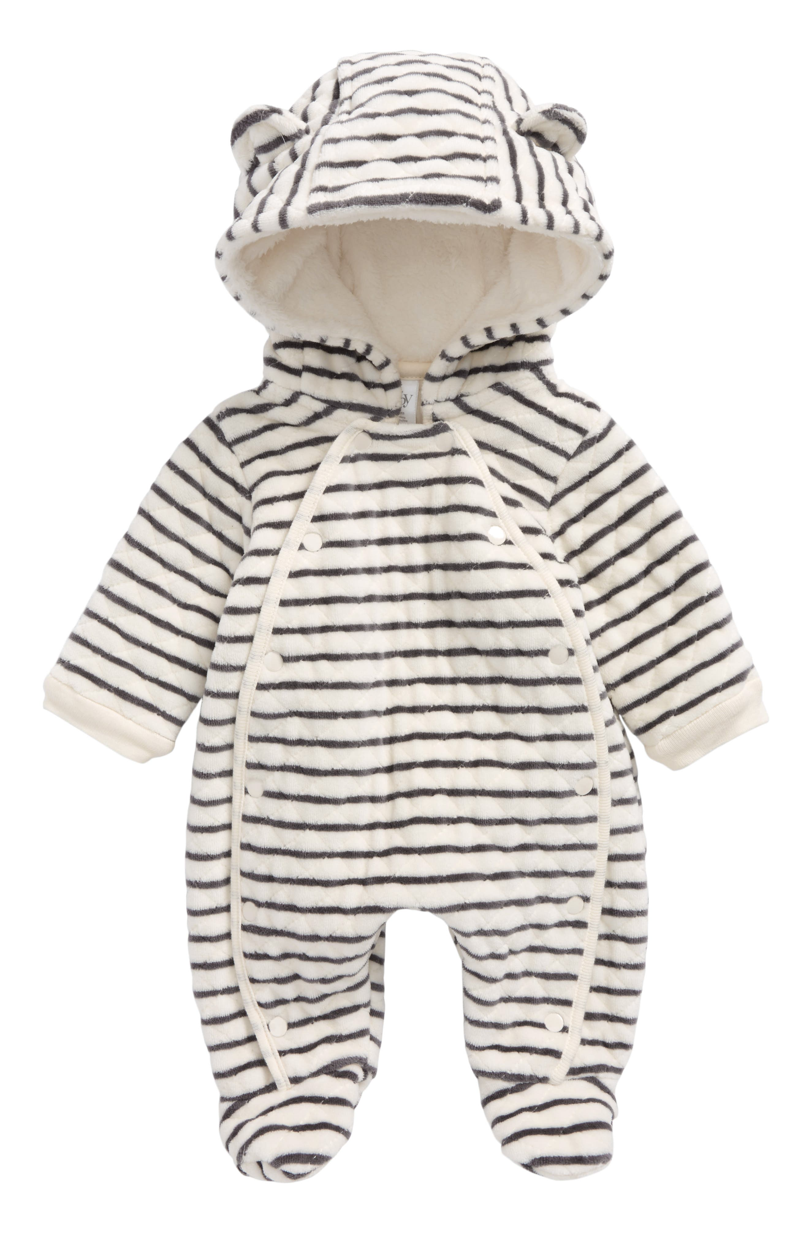 Hooded Bunting,                             Main thumbnail 1, color,                             IVORY EGRET- GREY STRIPE