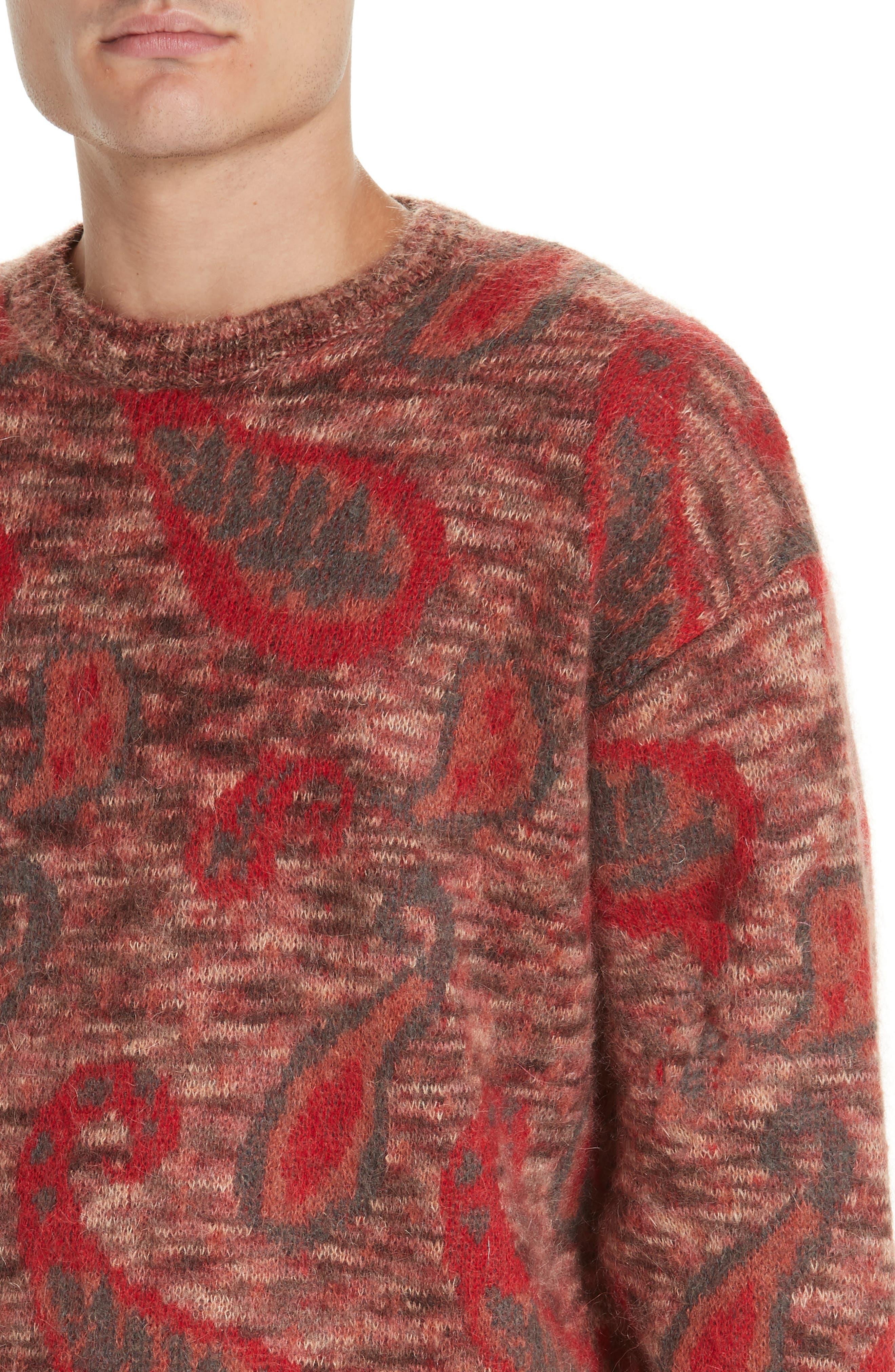 Mohair Blend Paisley Sweater,                             Alternate thumbnail 4, color,                             600