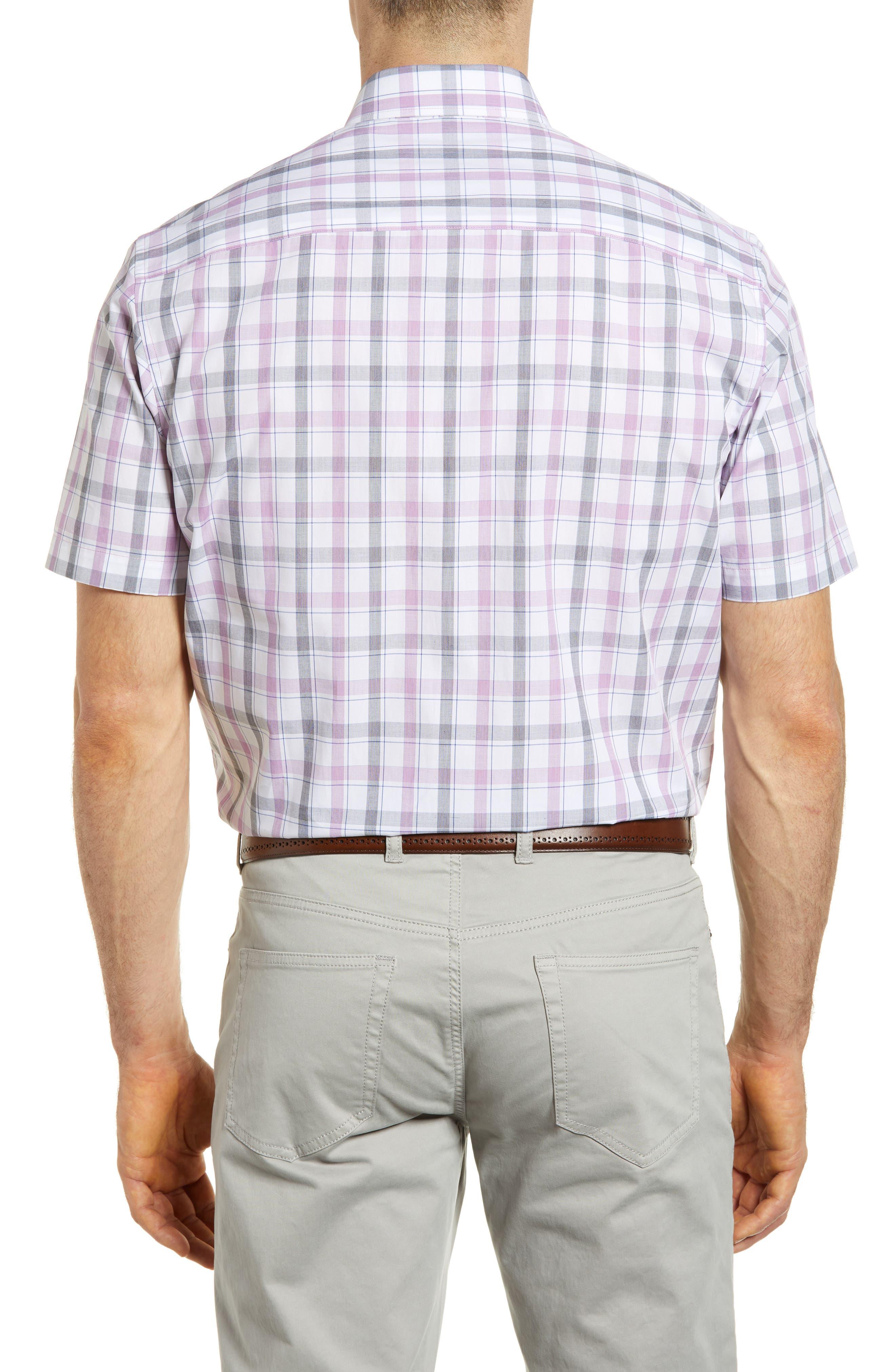 Griffen Non-Iron Plaid Sport Shirt,                             Alternate thumbnail 2, color,