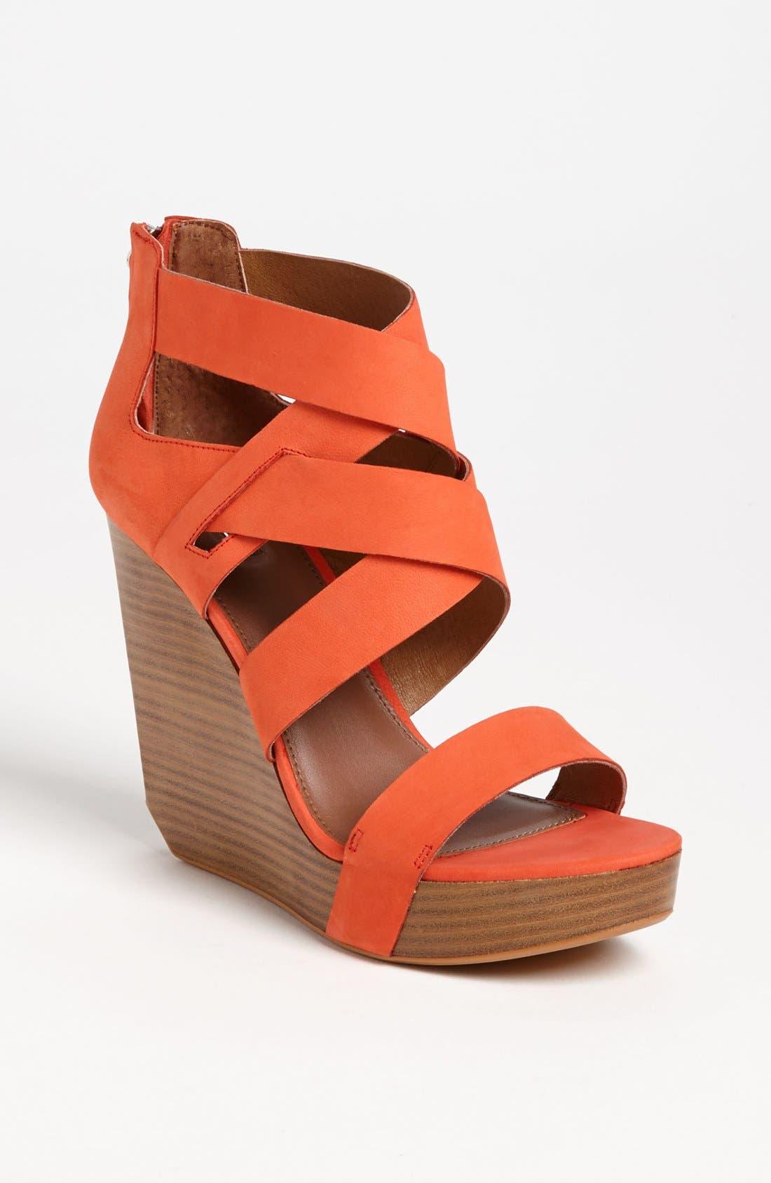 'Crisscross' Wedge Sandal,                             Main thumbnail 2, color,
