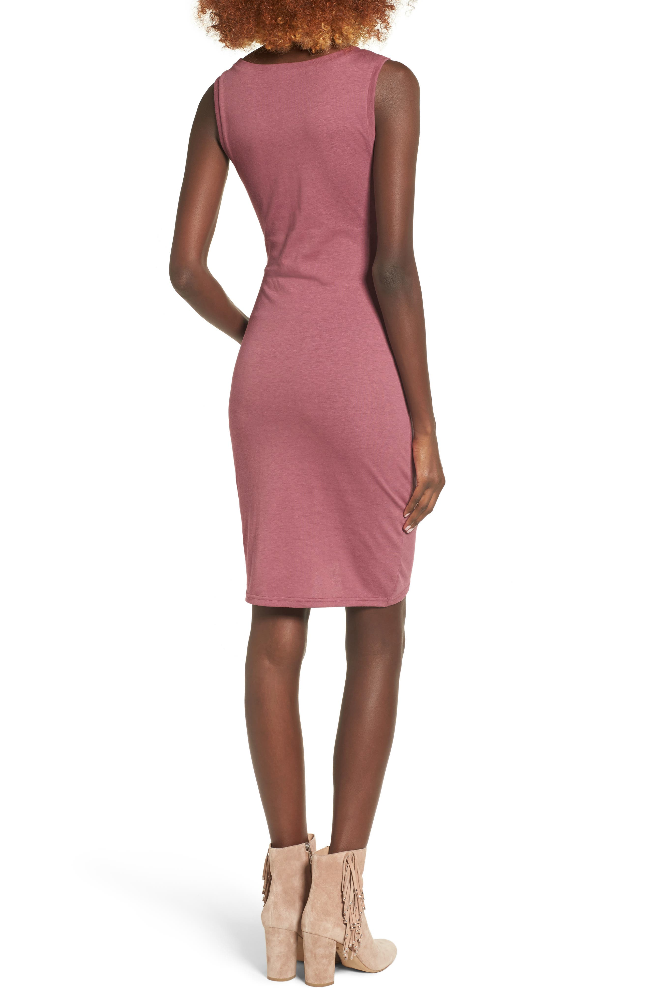 Ruched Body-Con Tank Dress,                             Alternate thumbnail 105, color,