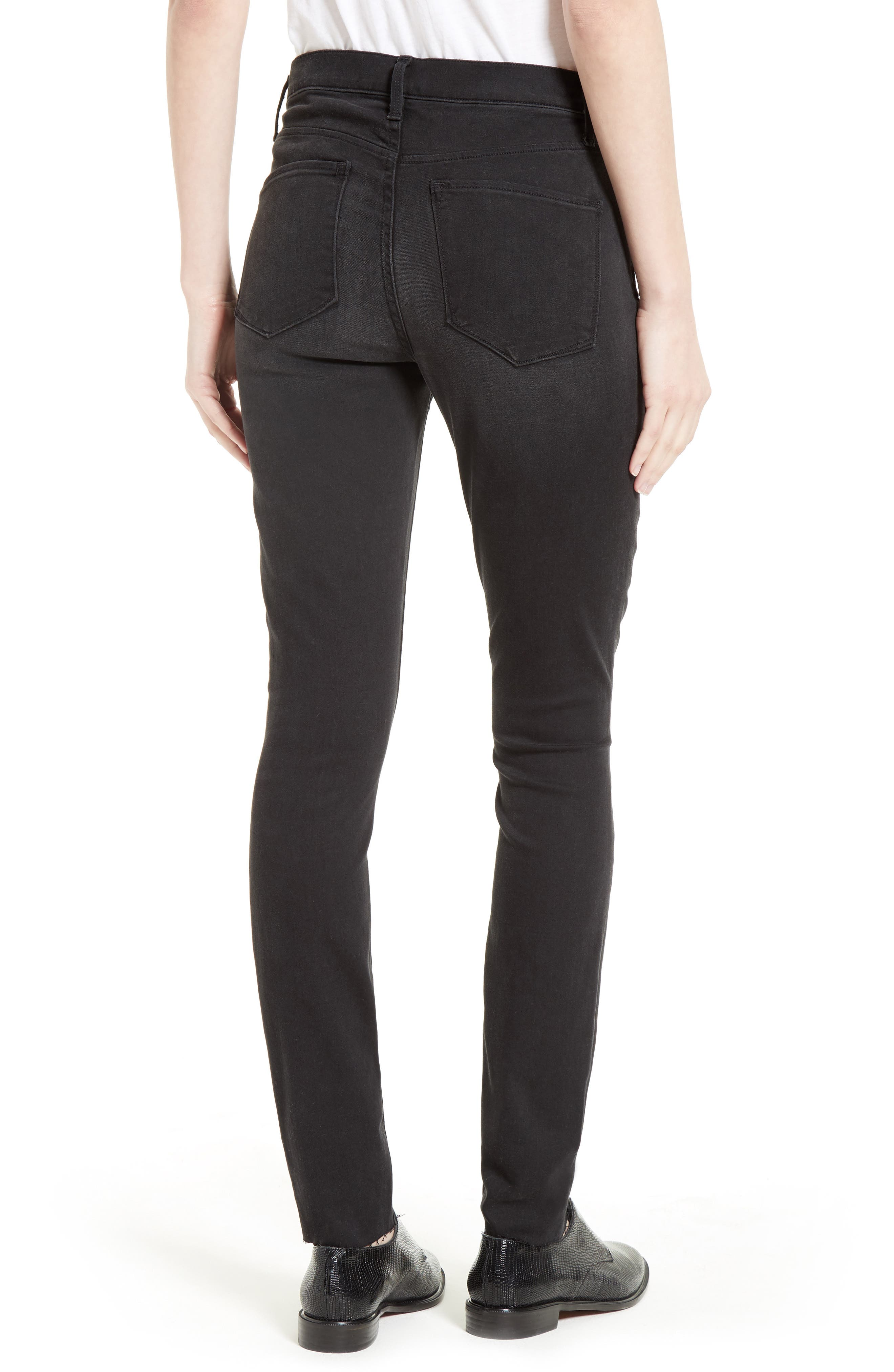 The Skinny Stretch Denim Jeans,                             Alternate thumbnail 2, color,                             001