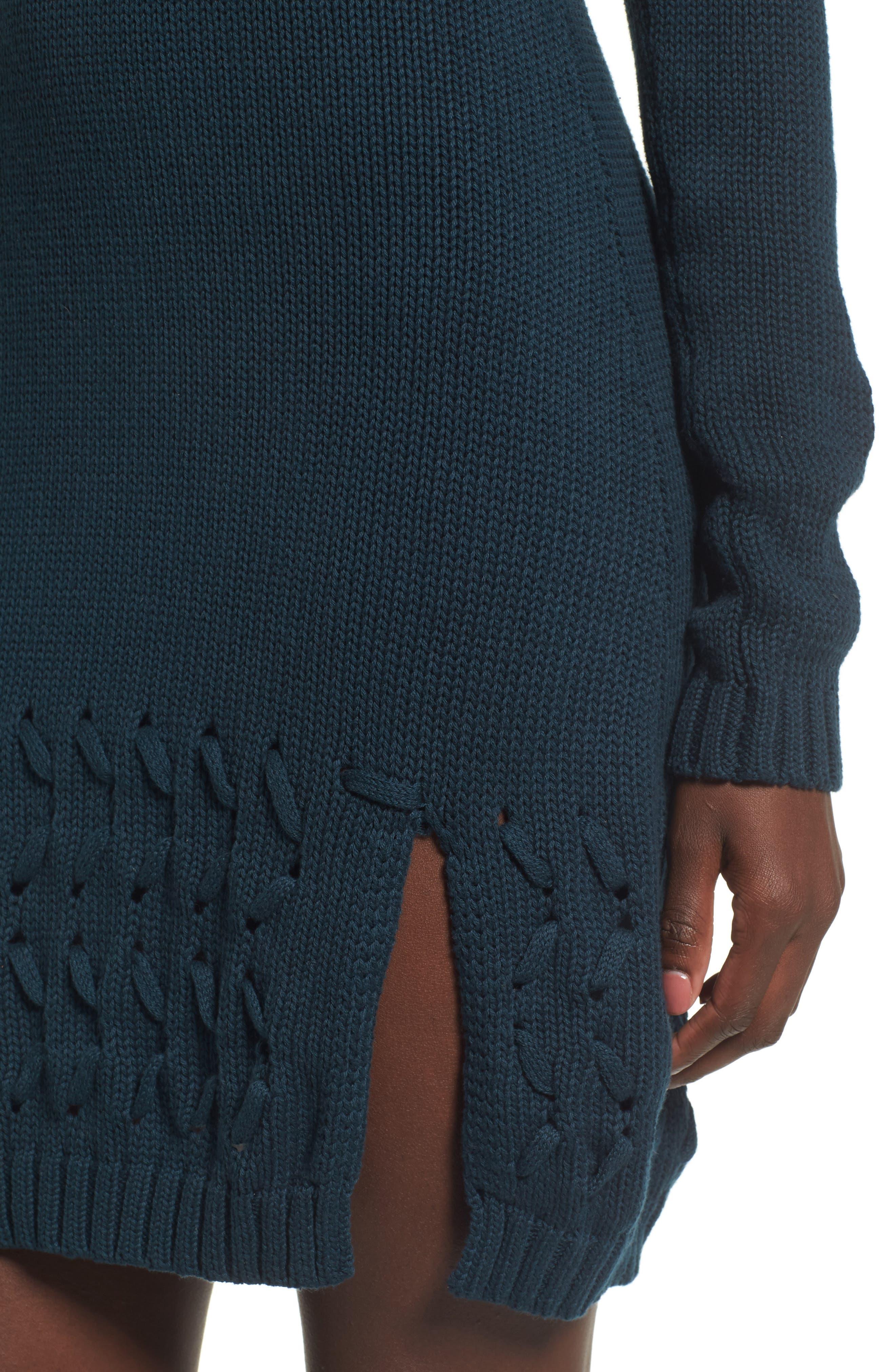 Falling Free Knit Off the Shoulder Dress,                             Alternate thumbnail 4, color,                             430