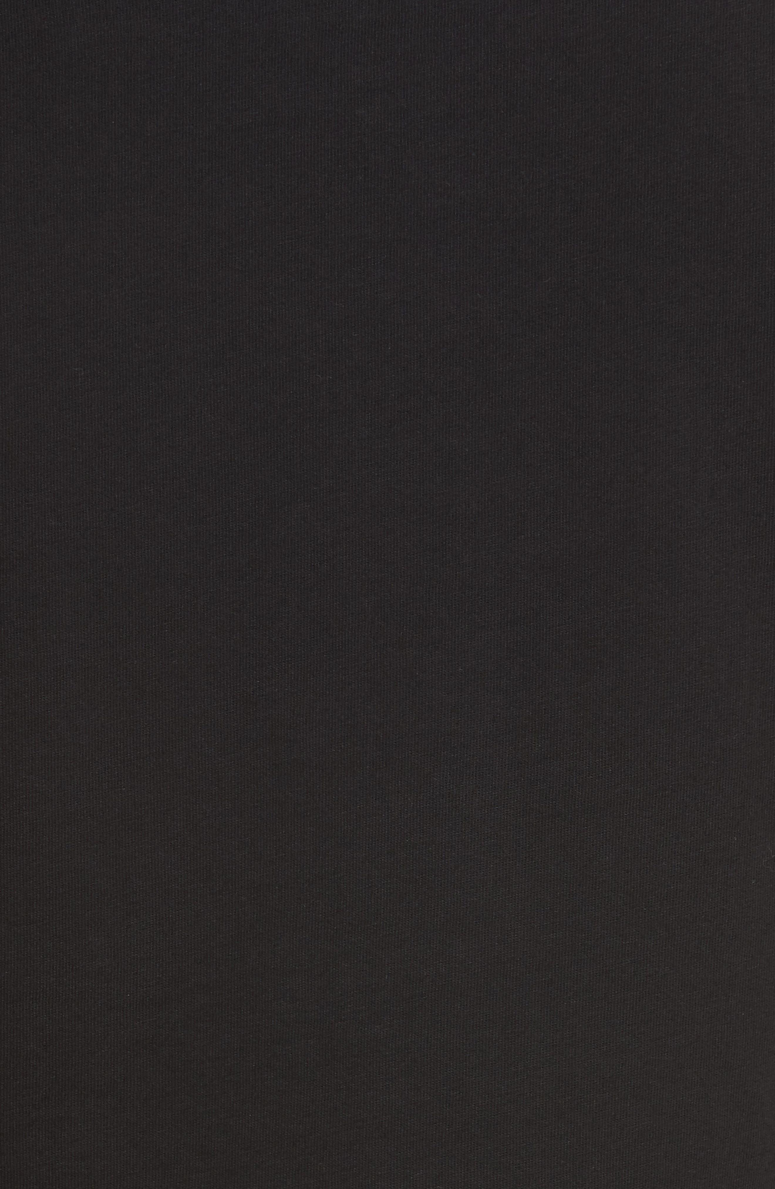 Bondage Sleeve Tee,                             Alternate thumbnail 5, color,                             BLACK