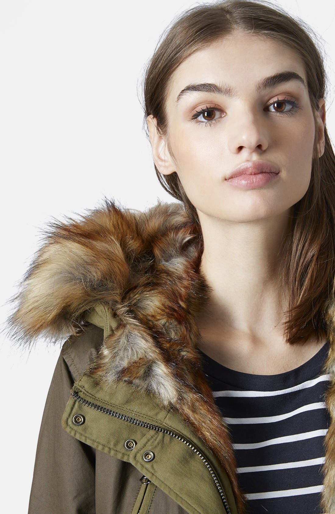 'Martha' Faux Fur Trim Parka,                             Alternate thumbnail 4, color,                             300